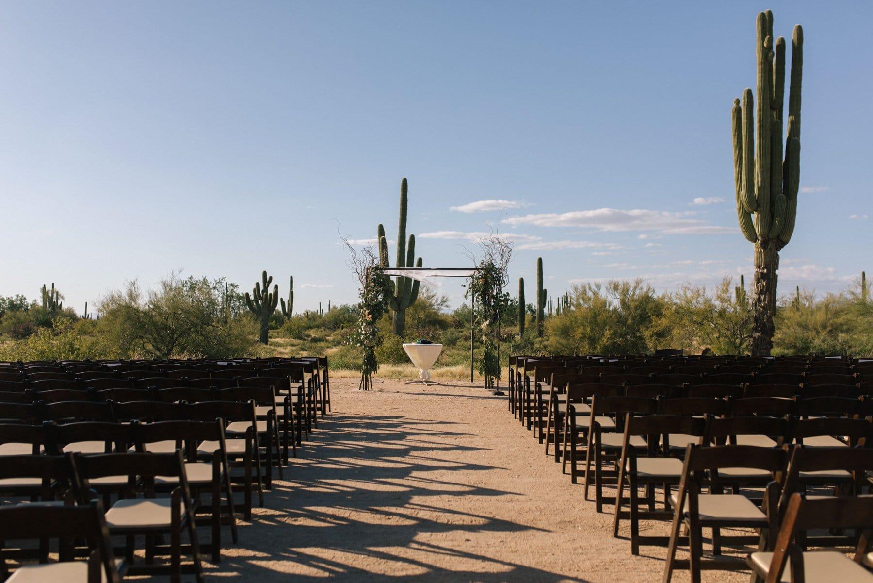 Desert Foothills barn event center ceremony in the desert