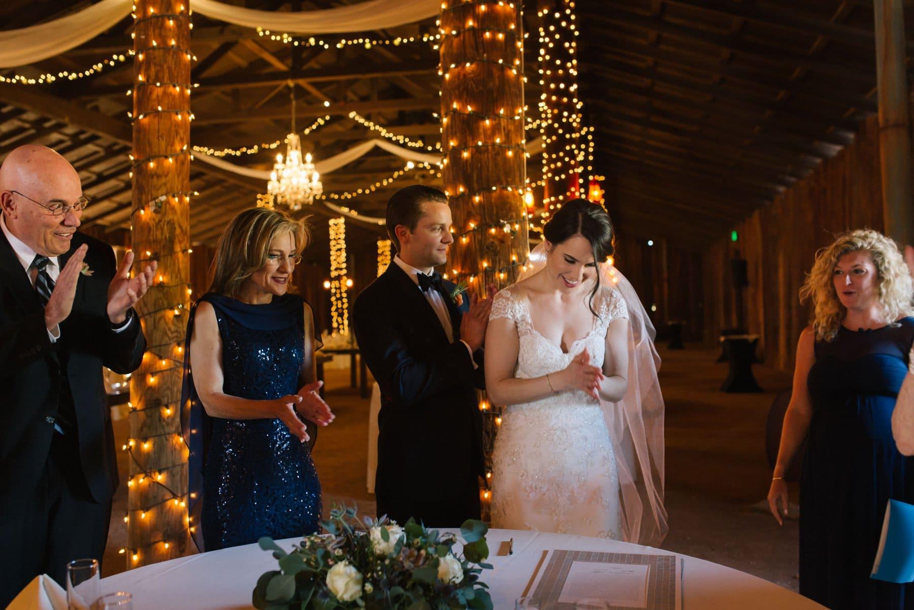 ketubah signing at Desrt Foothills barn wedding