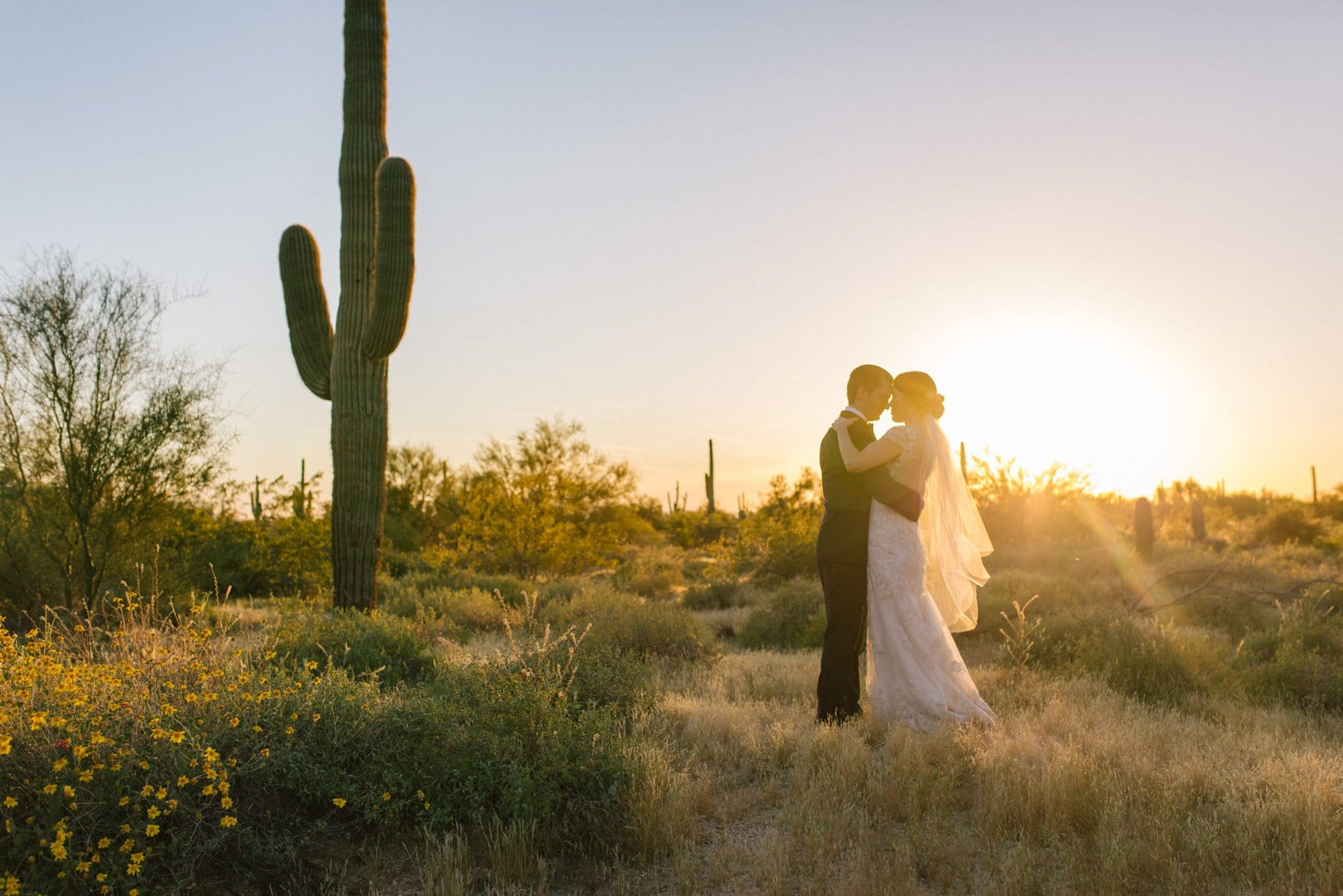 Arizona sunset bride & groom photos