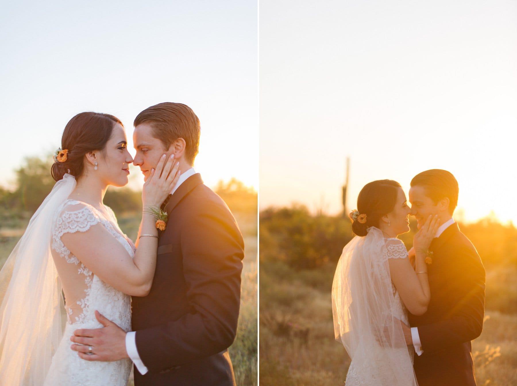 Arizona sunset bride & groom portraits