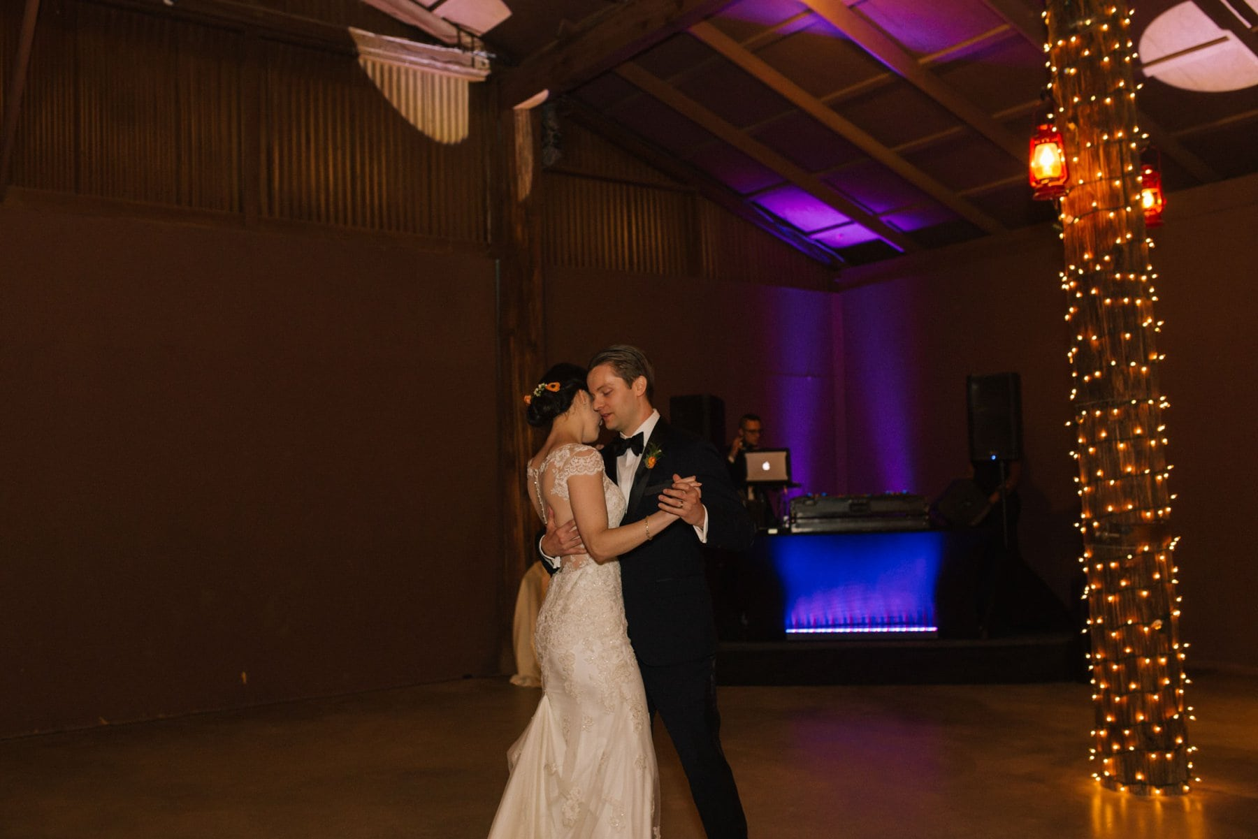 Desert Foothills barn wedding first dance