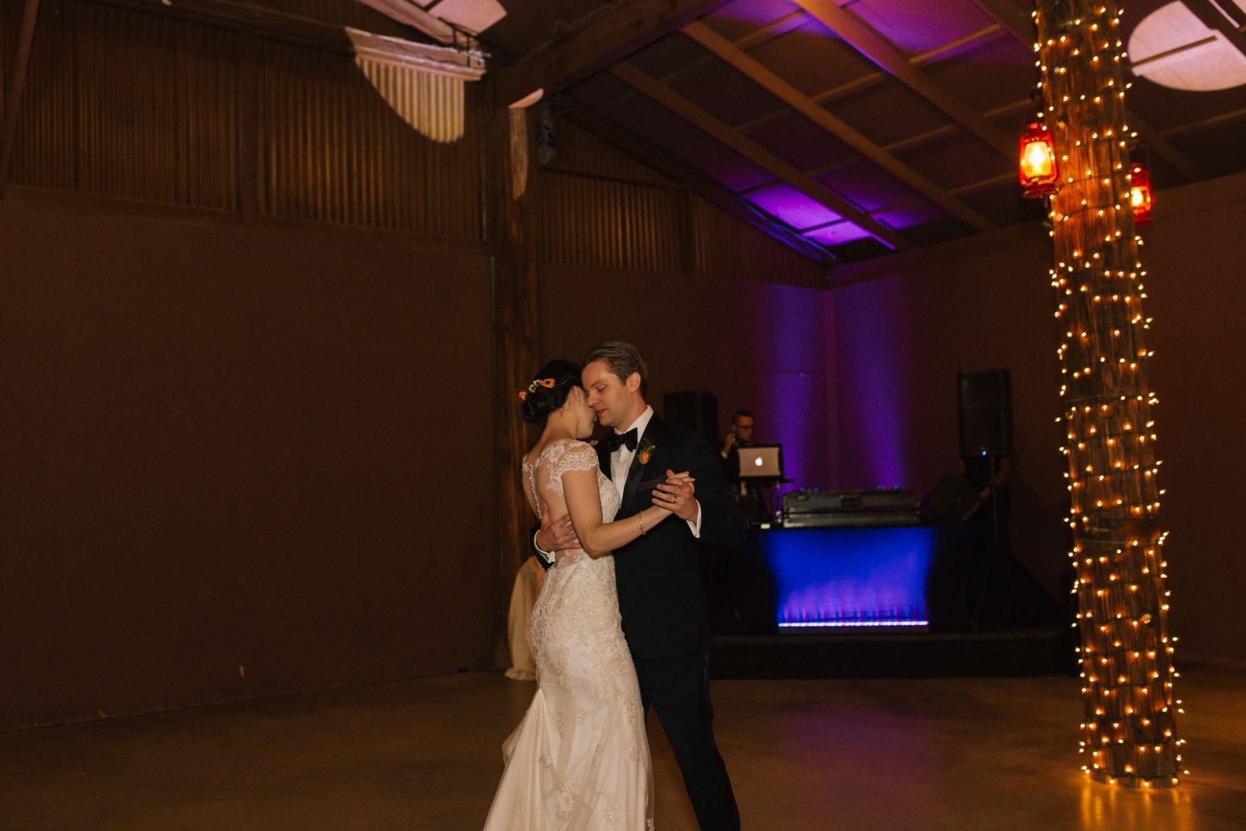 Desert Foothills barn wedding first dance