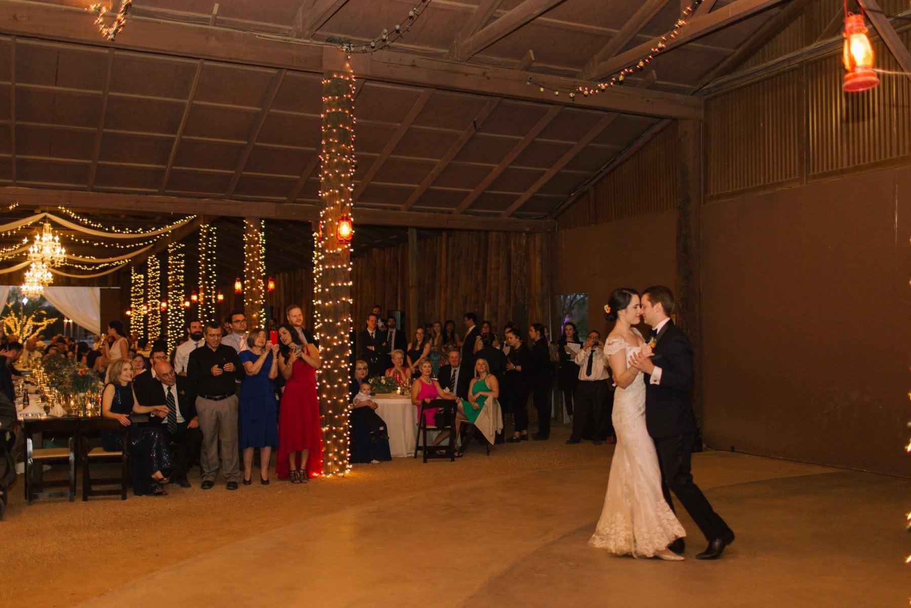 Desert Foothills first dance reception