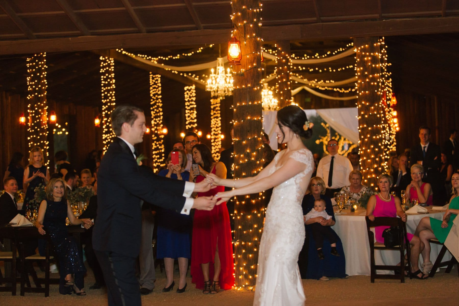 Desert Foothills barn wedding Arizona first dance