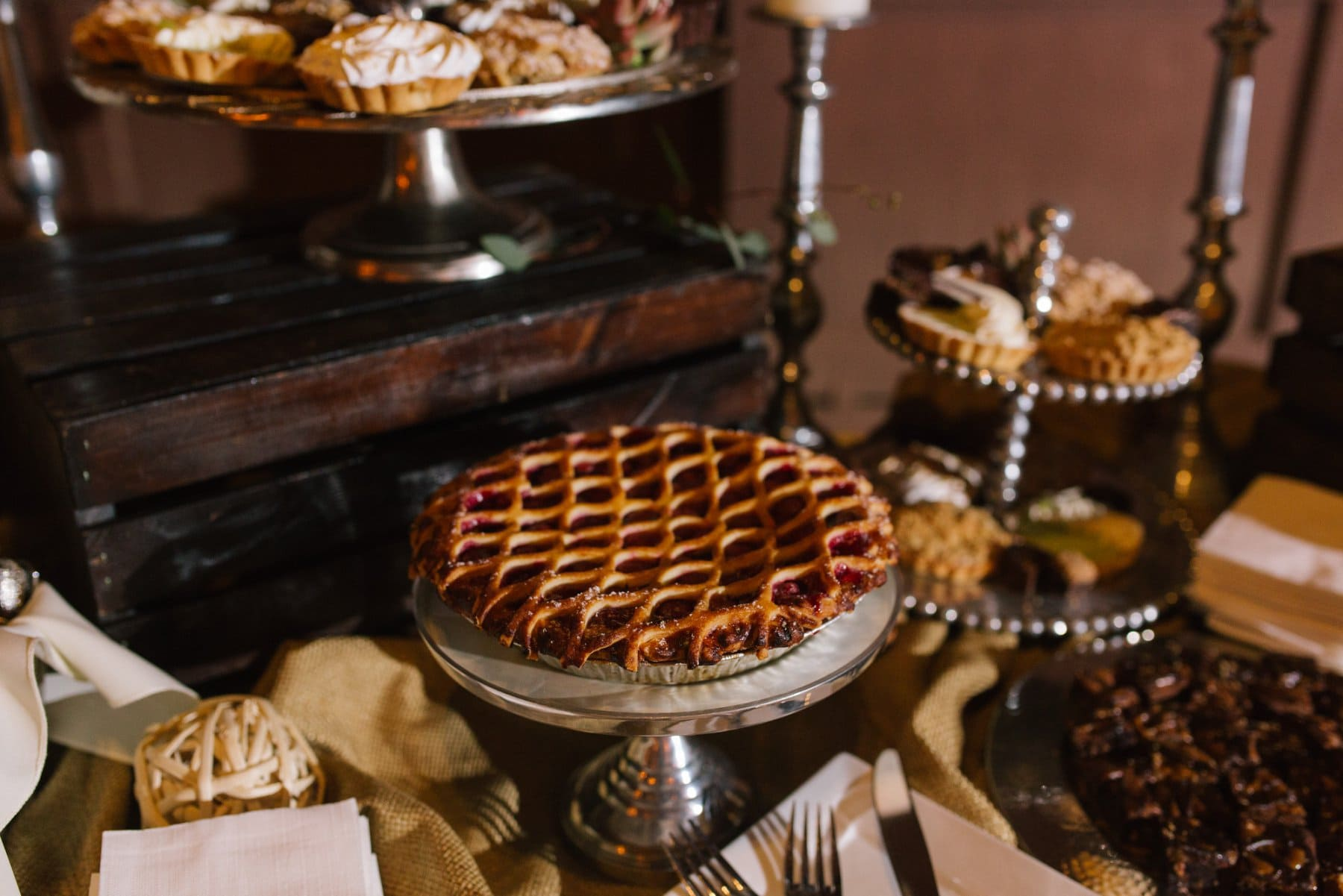 wedding cherry pie Desert Foothills wedding venue