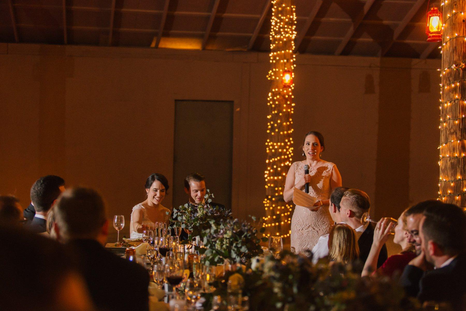 elegant rustic Desert Foothills barn wedding reception