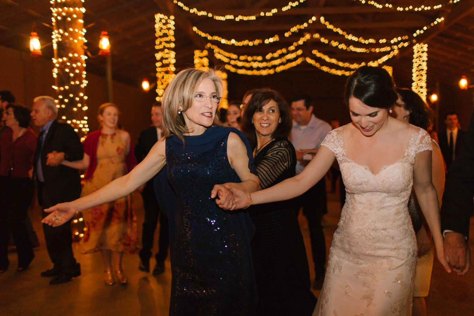 wedding horah at Desert Foothills barn wedding