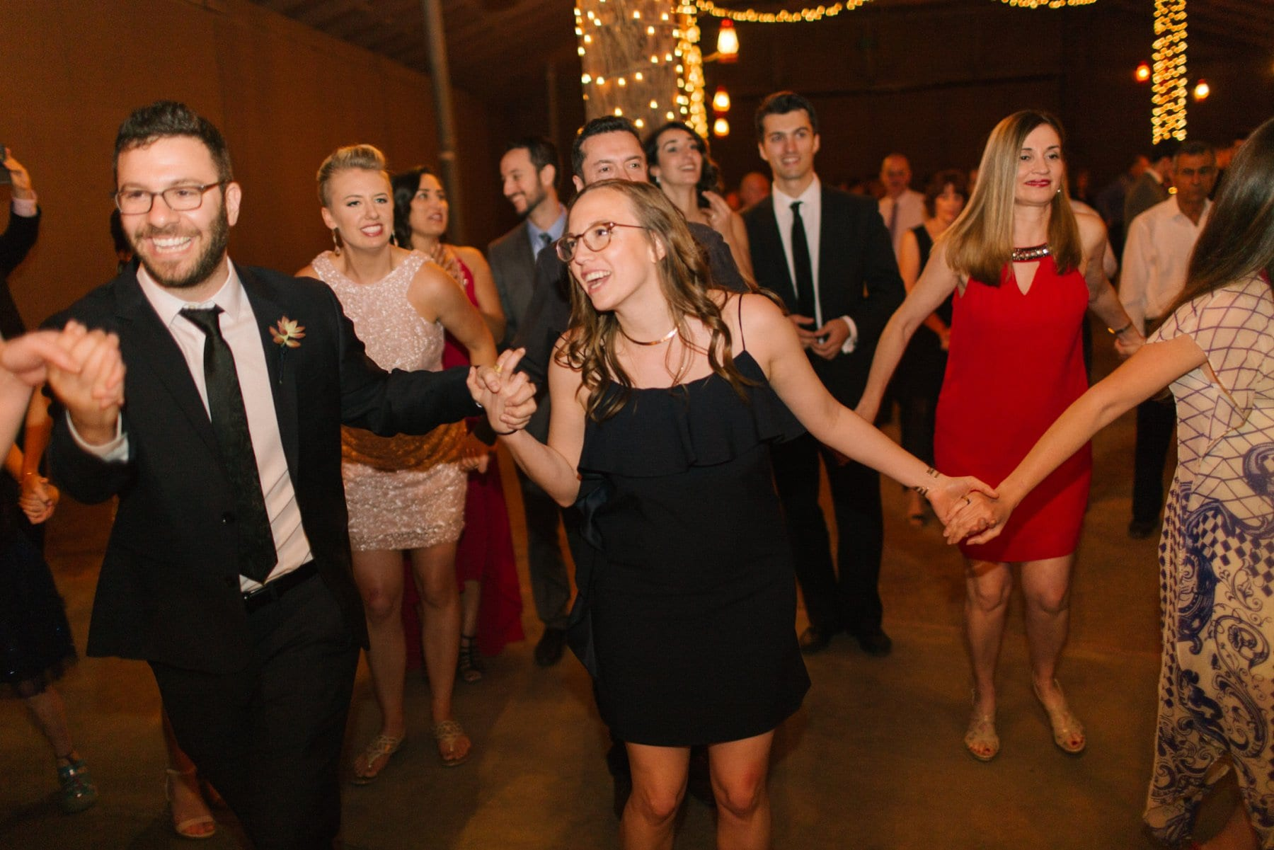 wedding horah at Desert Foothills barn wedding