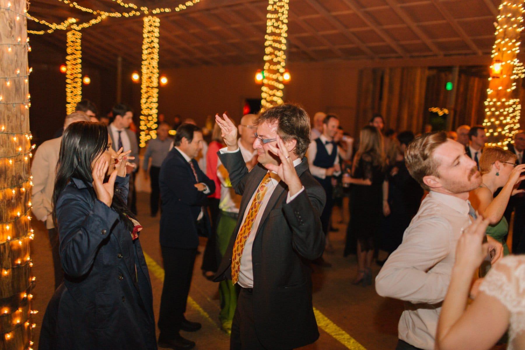 chicken dance at reception Desert Foothills wedding Scottsdale AZ