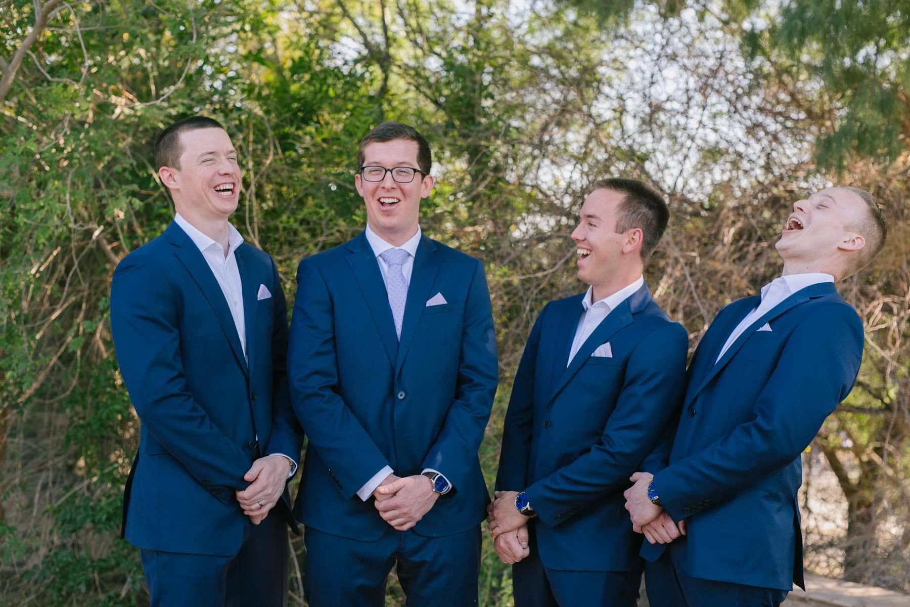 Phoenix Zoo wedding groom and groomsmen