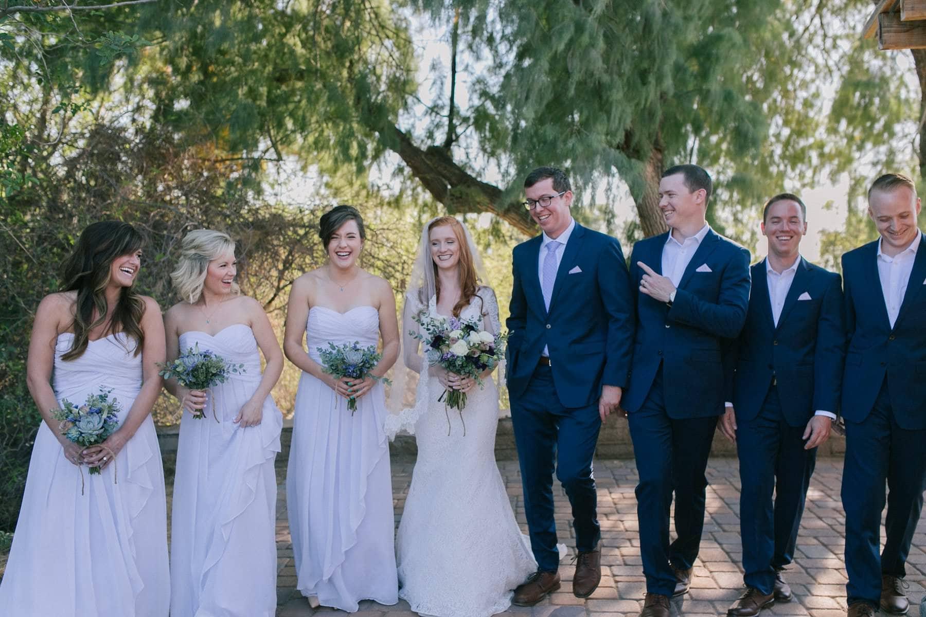 Phoenix Zoo wedding bridal party