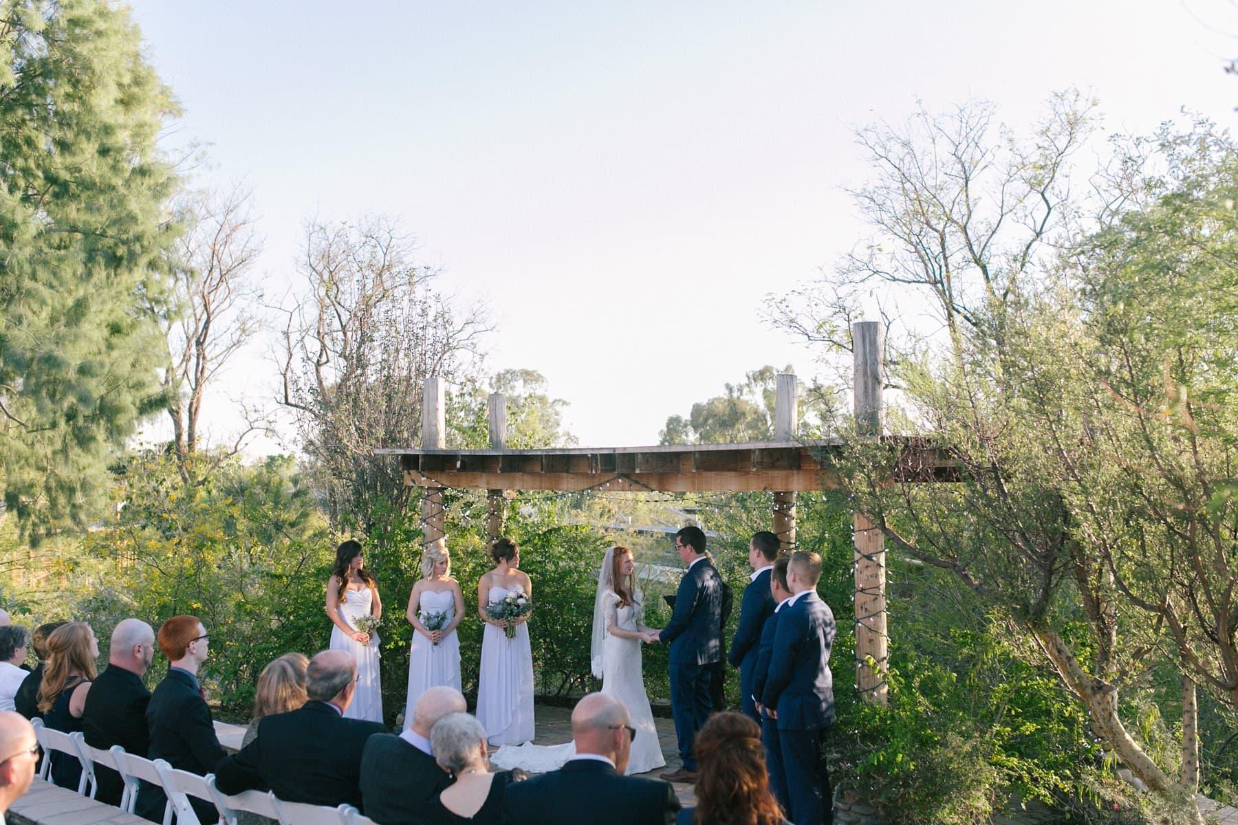 Ruby's House wedding ceremony Phoenix Zoo photos
