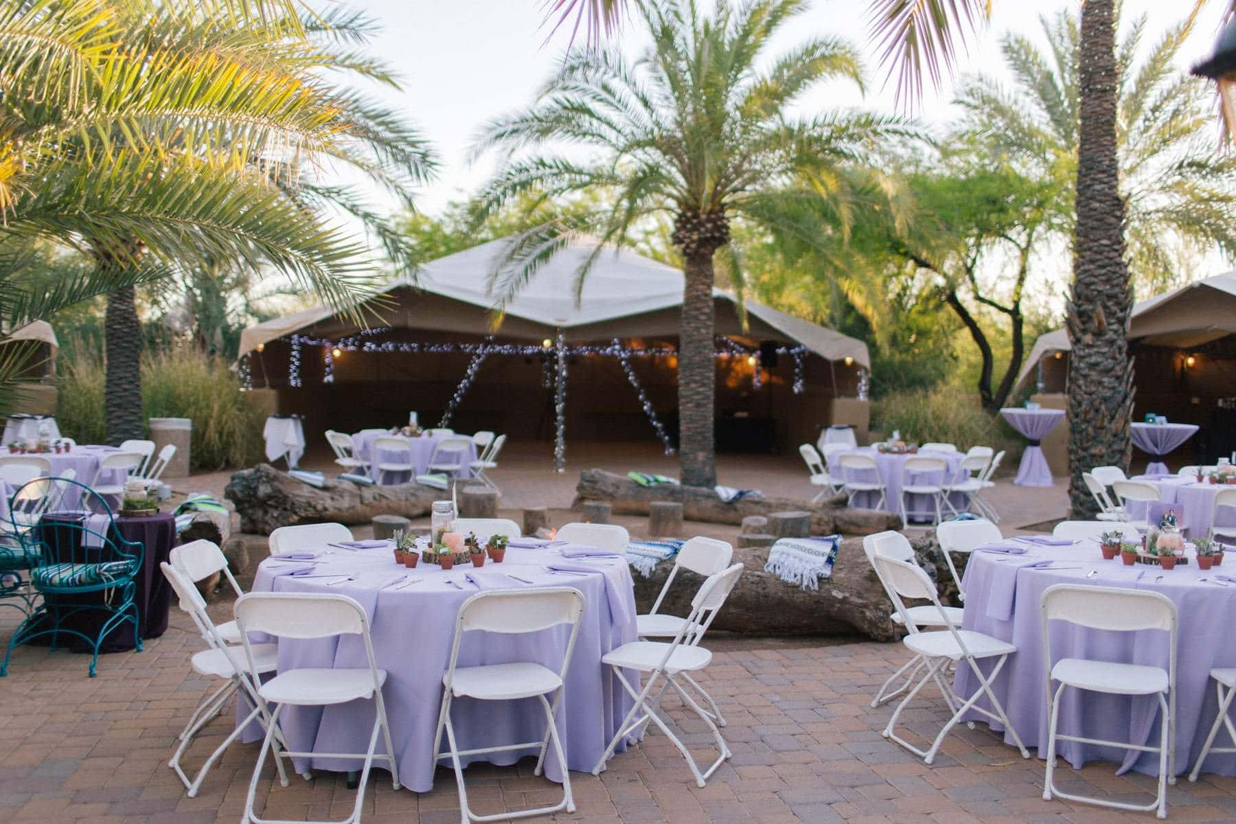 Desert Tents Phoenix Zoo wedding reception