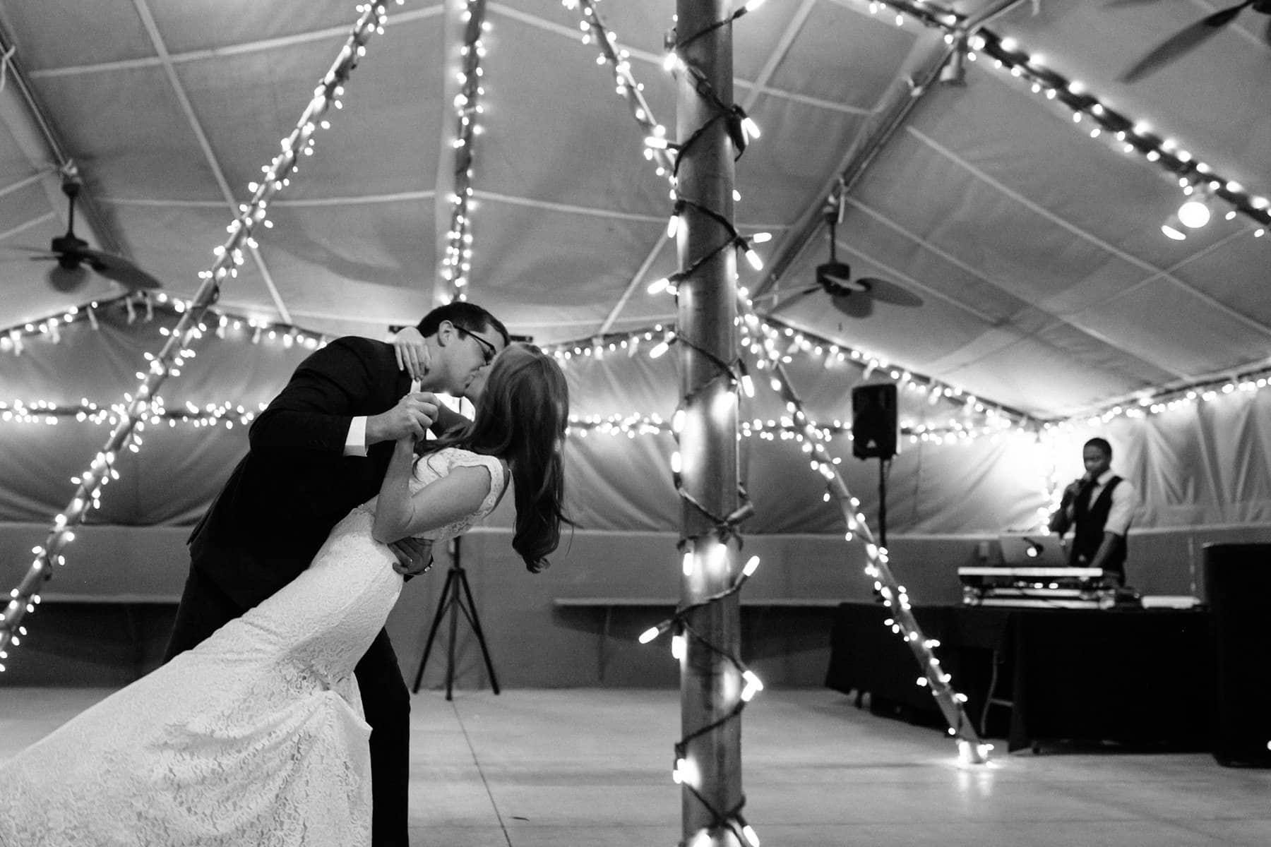 Phoenix Zoo desert tents reception first dance