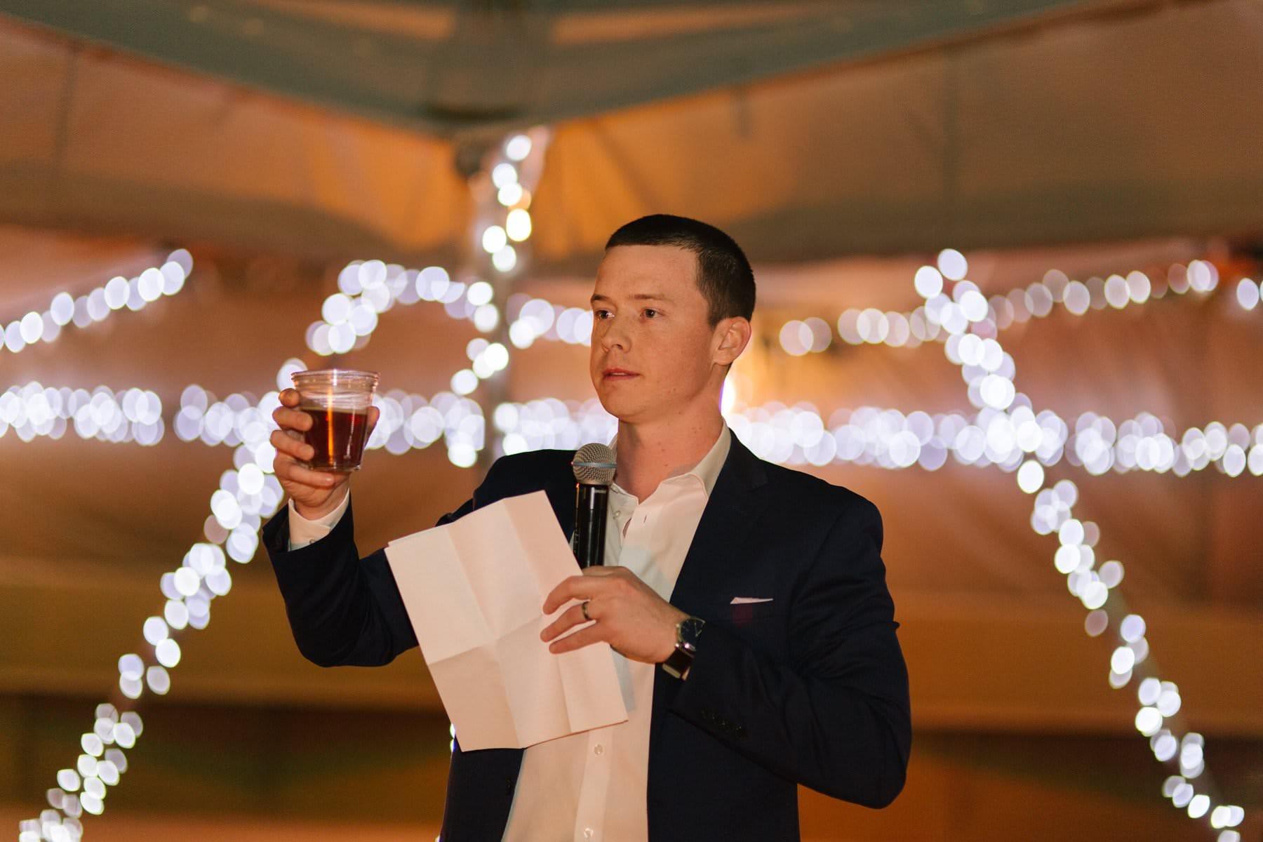 Phoenix Zoo wedding reception toasts