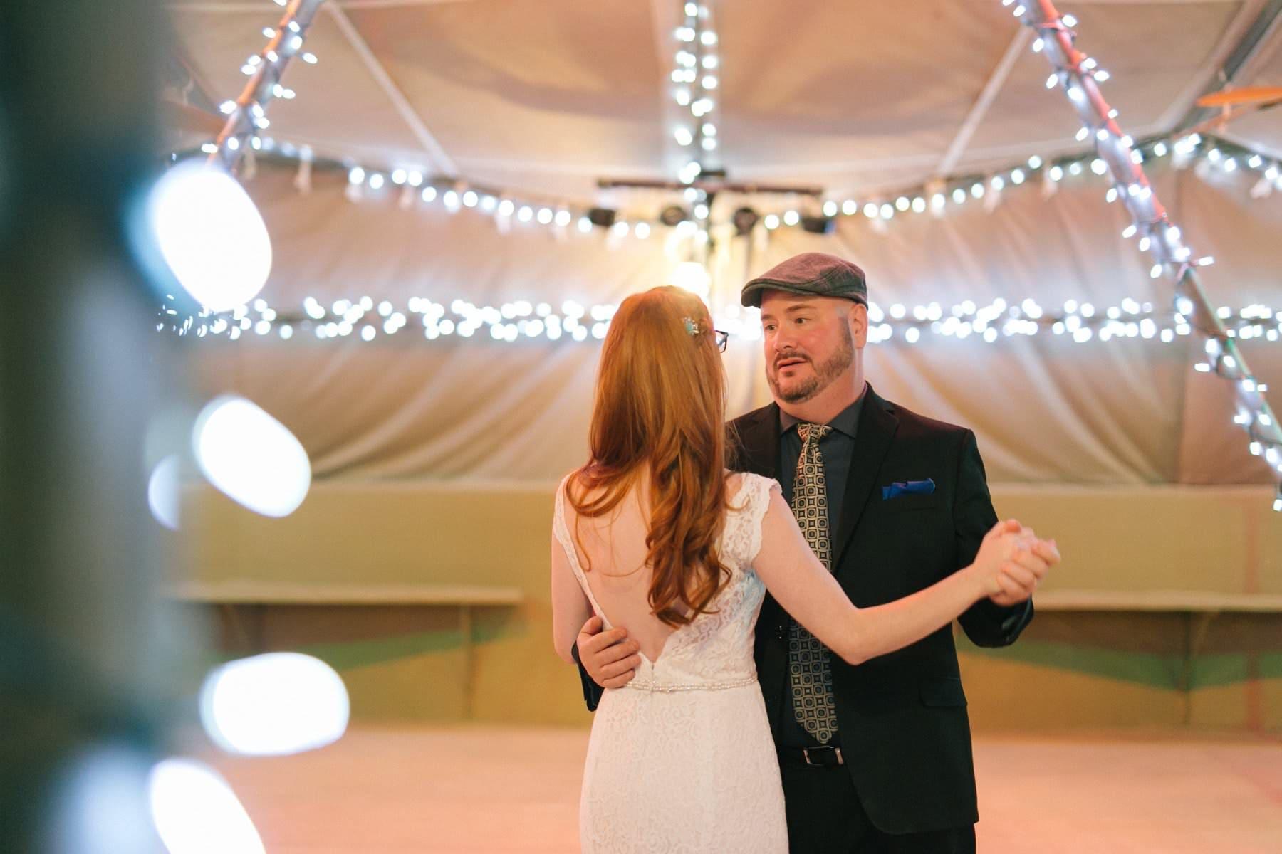 Phoenix Zoo desert tents wedding reception father daughter dance