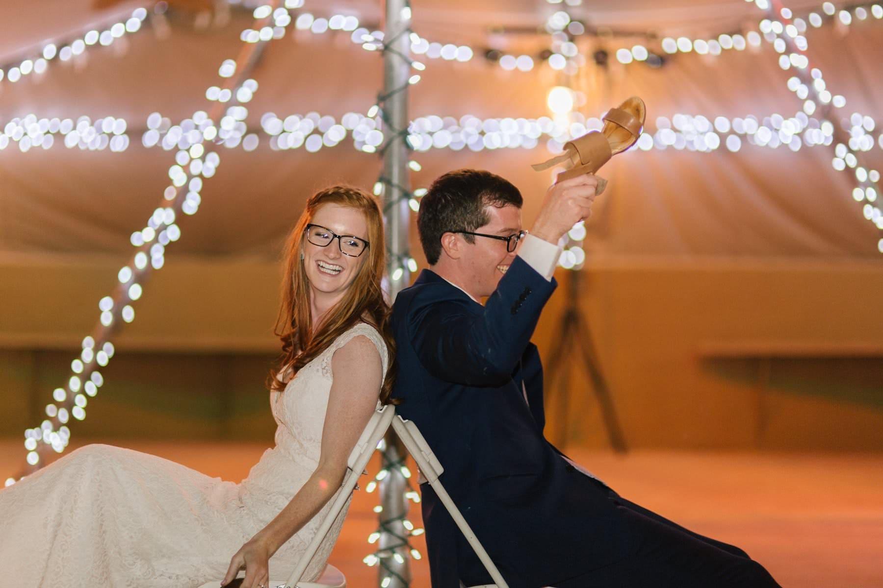 Phoenix Zoo wedding reception shoe game