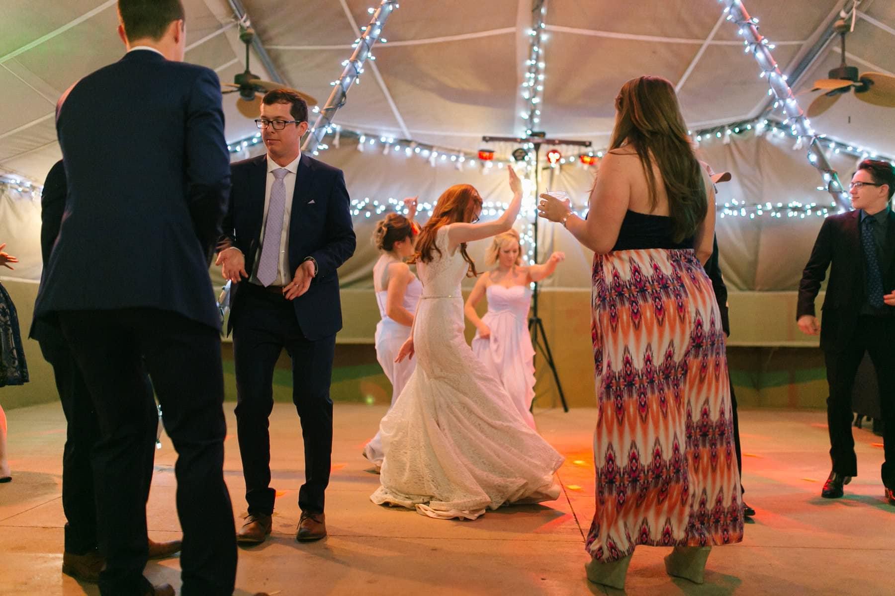 Phoenix Zoo wedding reception