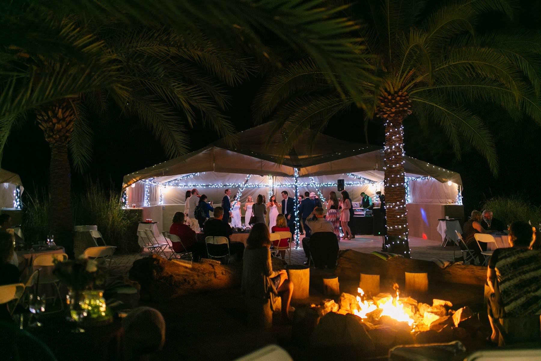 Phoenix Zoo desert tents wedding reception
