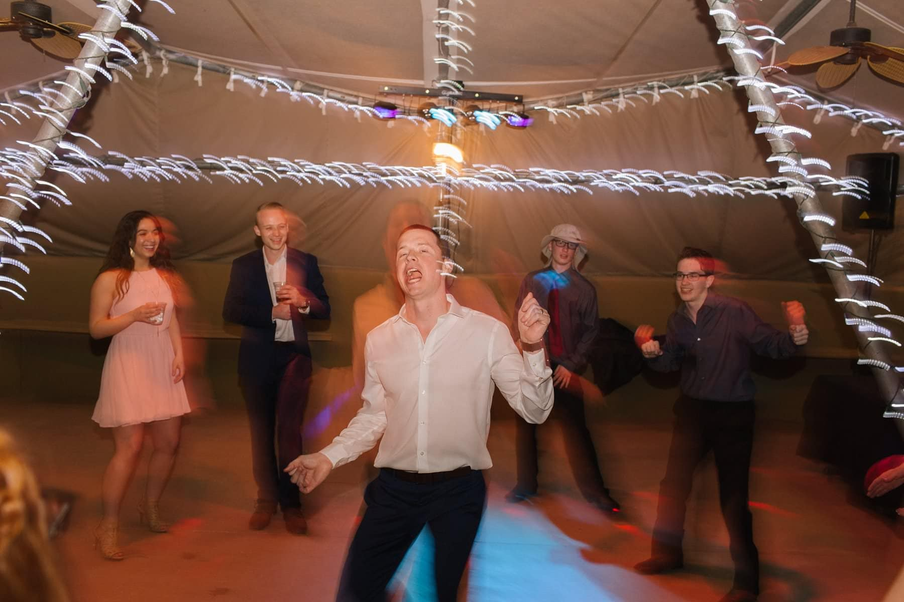 Phoenix Zoo reception dancing