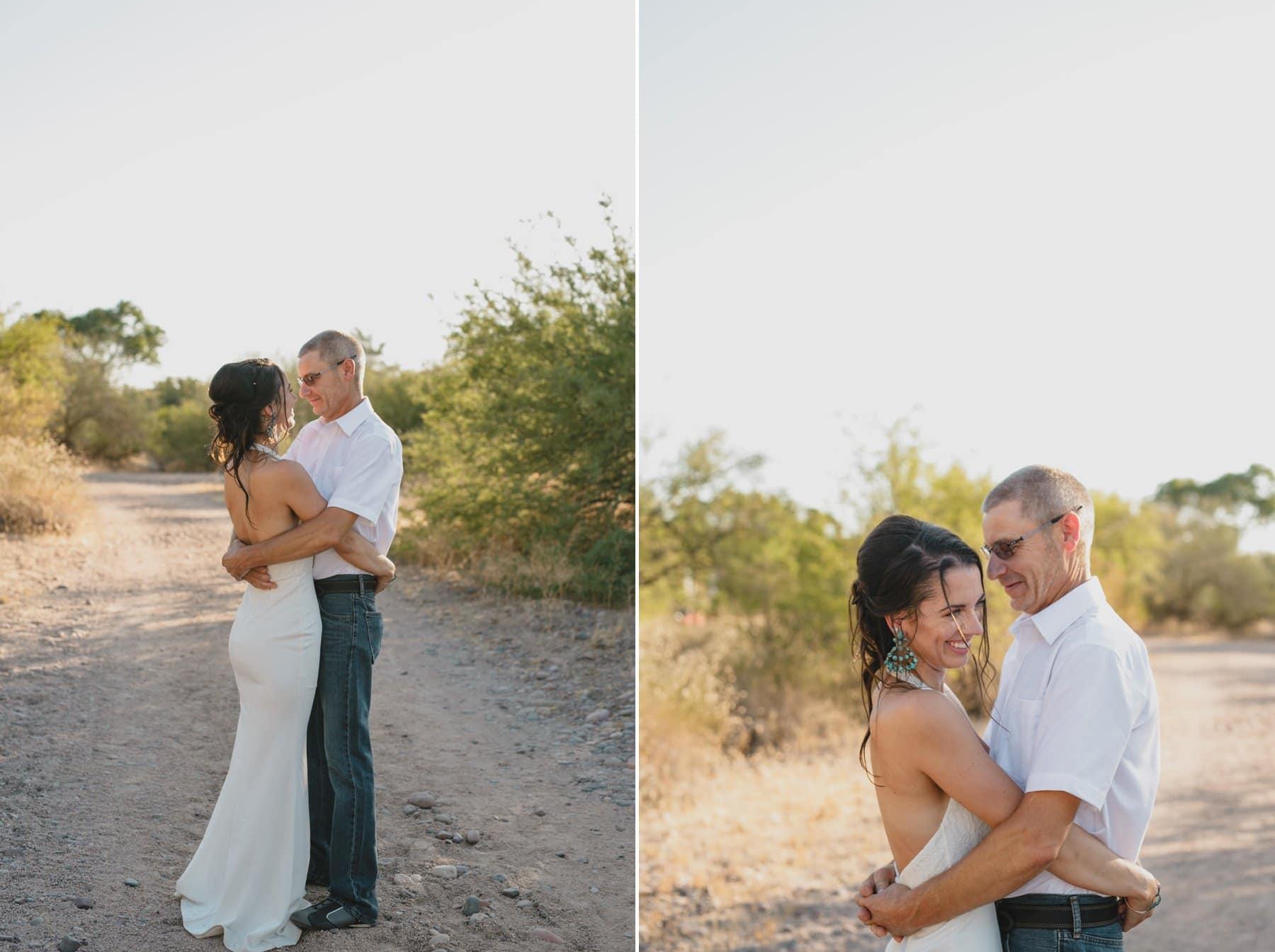 natural genuine elopement photographer Arizona