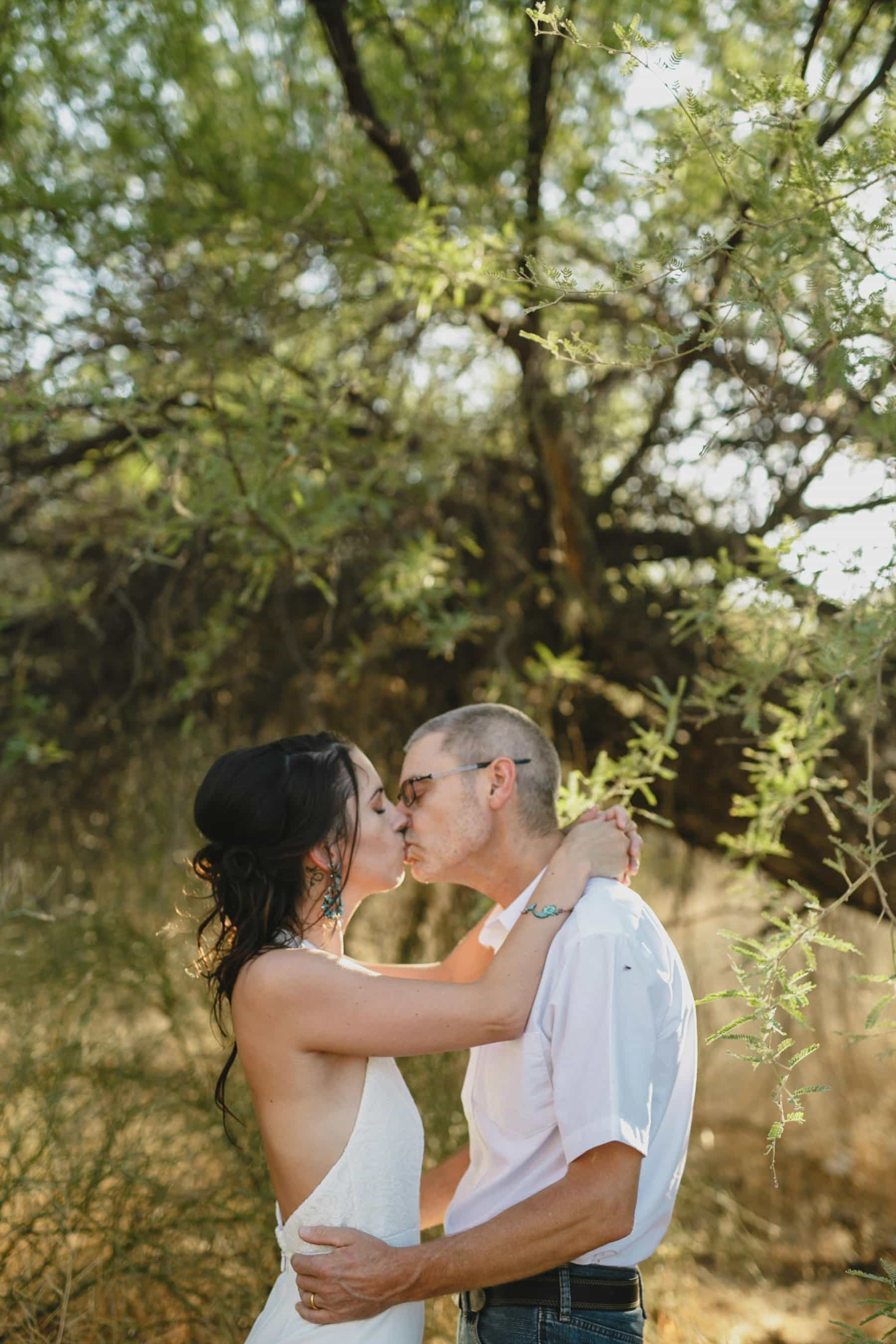 outdoor elopement at Salt River Phoenix