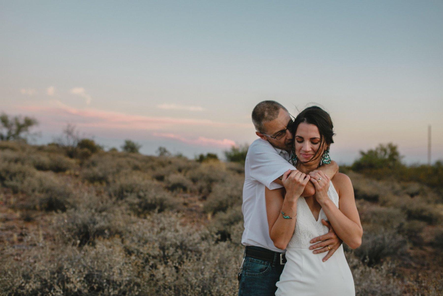 Phoenix desert boho elopement in Arizona