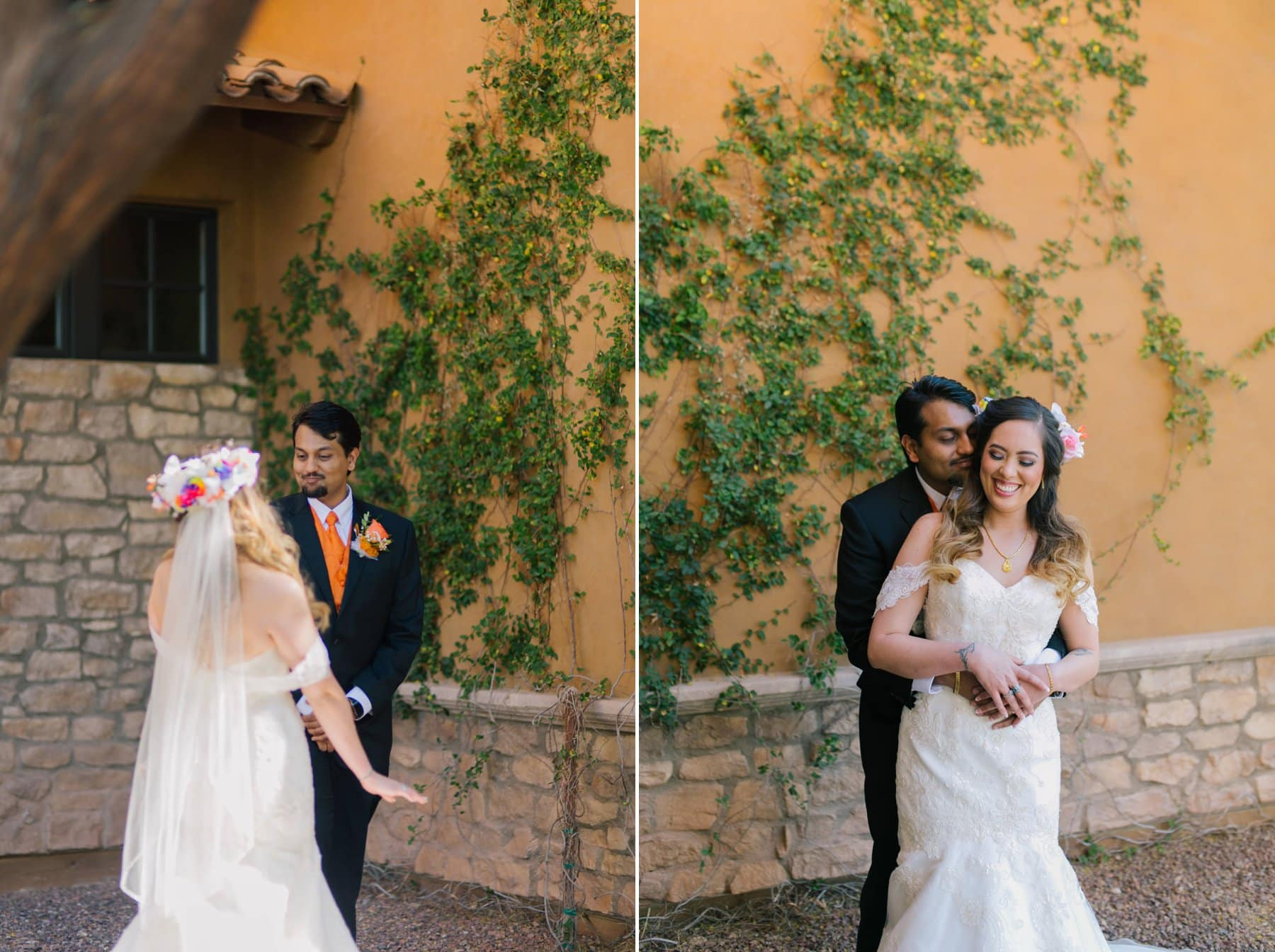 Indian and Asian bride & groom South Mountain Phoenix private residence