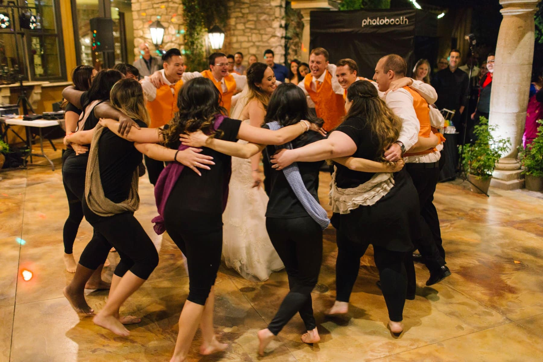 wedding party choreographed dance at private home in South Mountain Phoenix