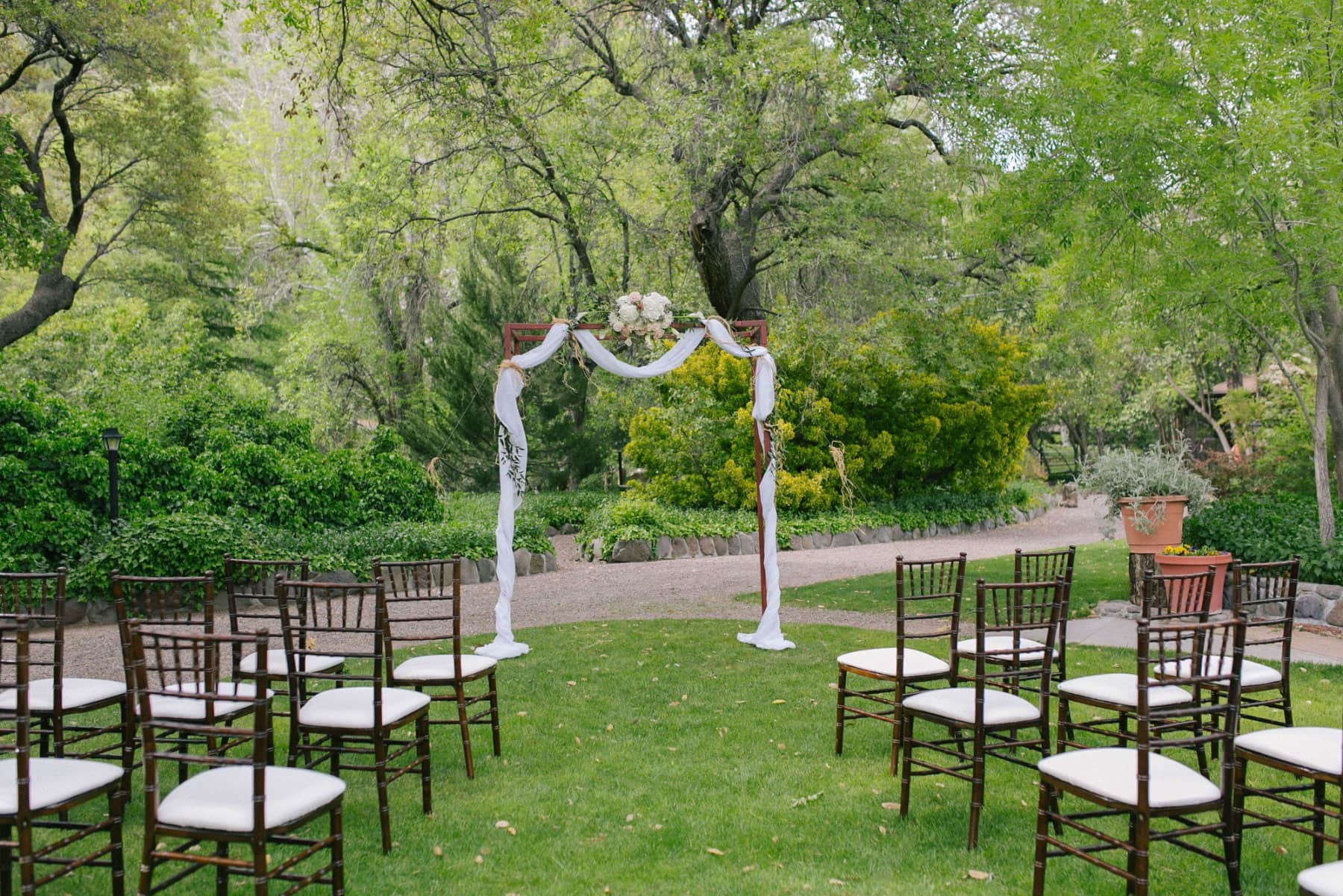 Briar Patch Inn small wedding ceremony location Sedona AZ