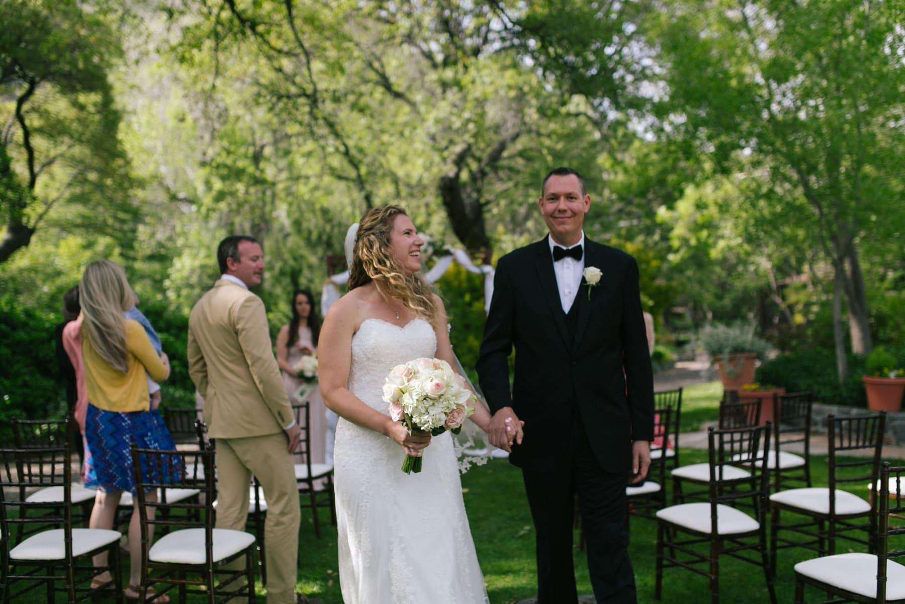 Briar Patch Inn wedding ceremony