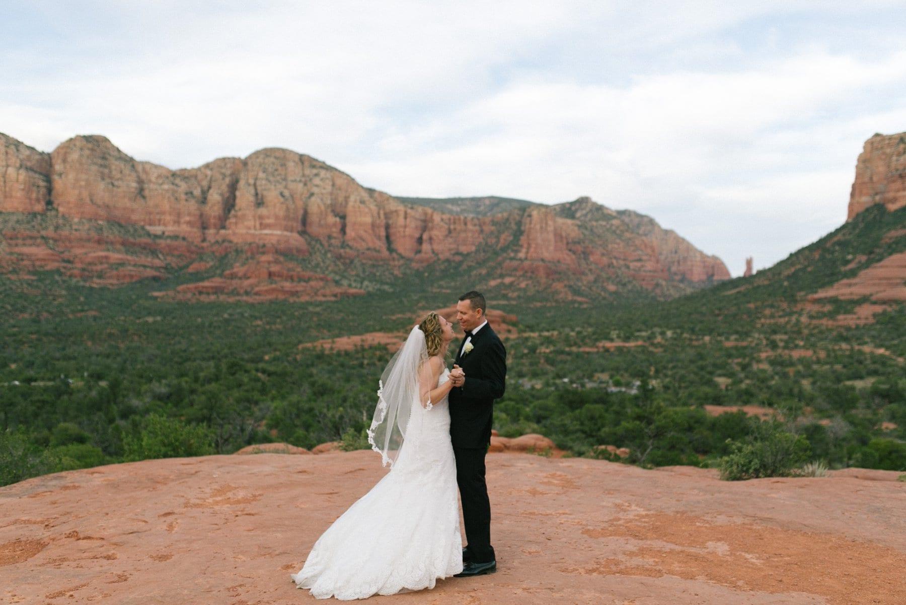 Sedona bride & groom