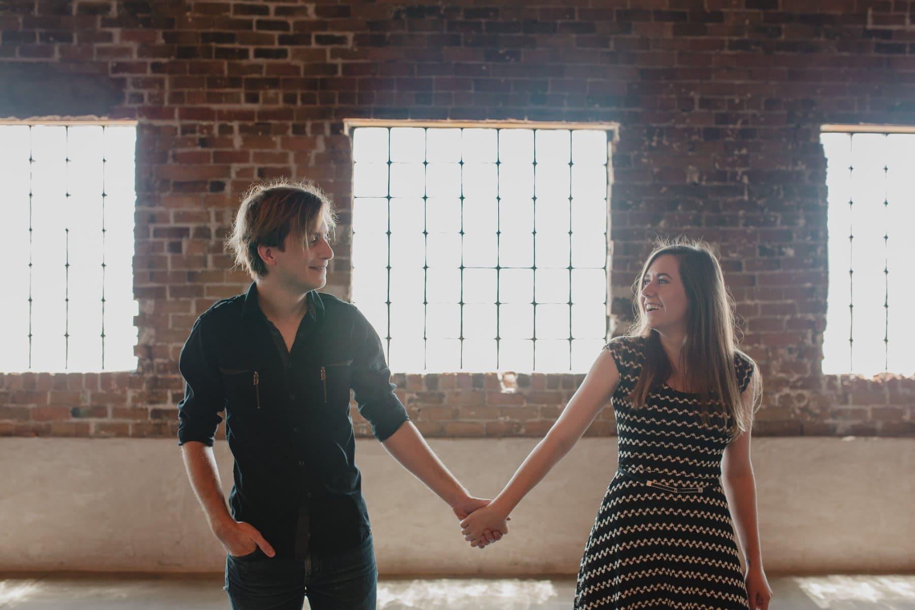brick warehouse couples photos Phoenix