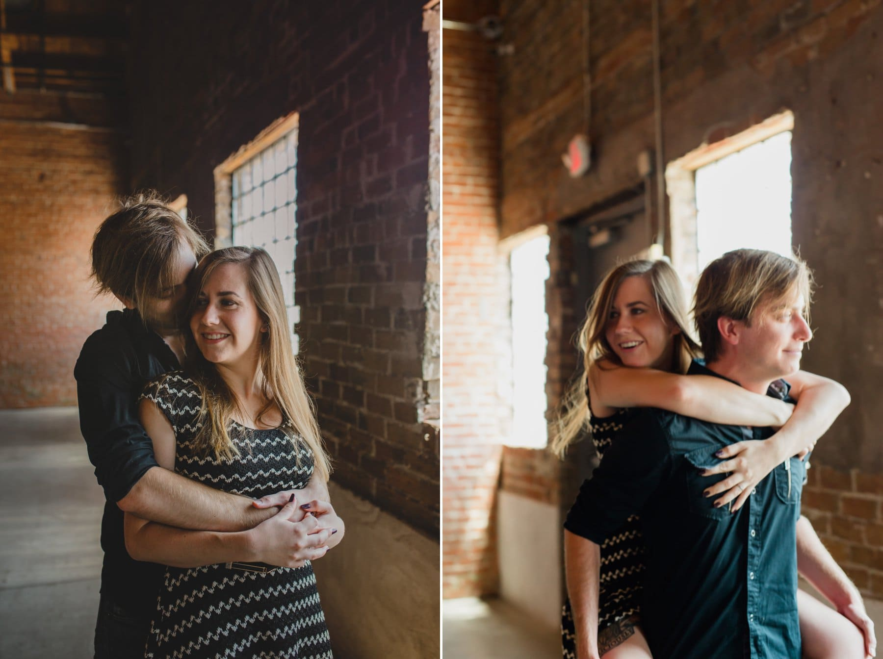 brick warehouse 215 Phoenix engagement session