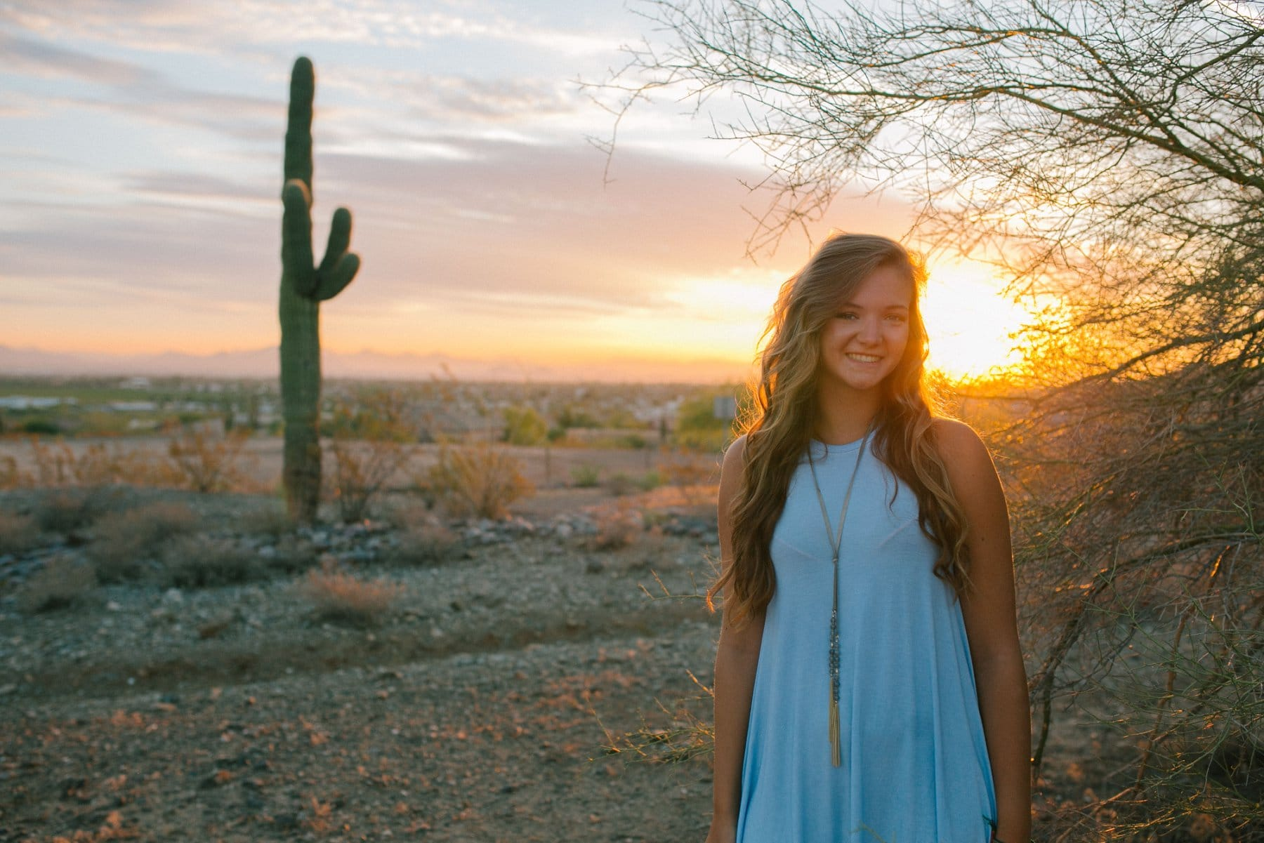 sunrise high school senior portraits at South Mountain AZ