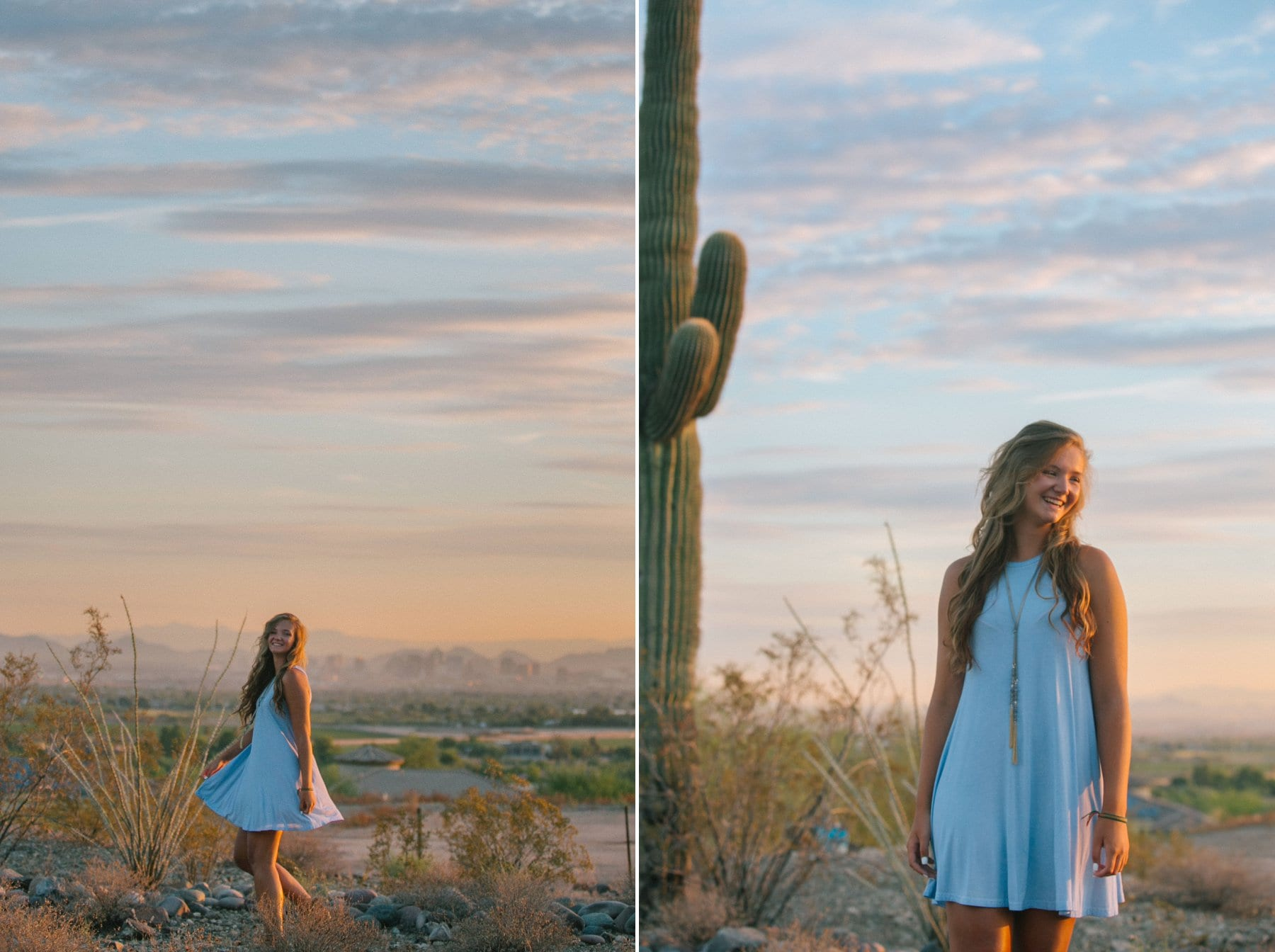 South Mountain Arizona high school senior session desert