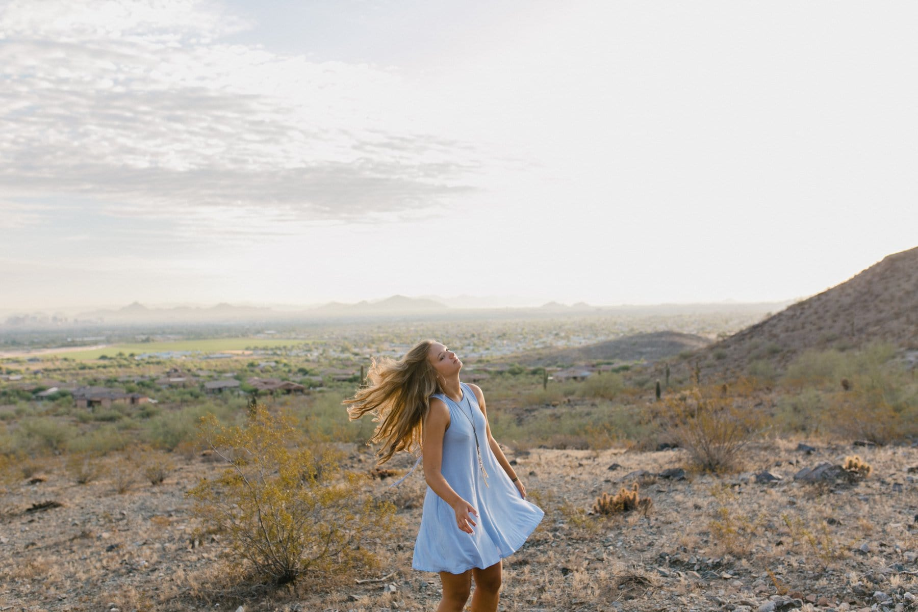 Arizona mountain senior session