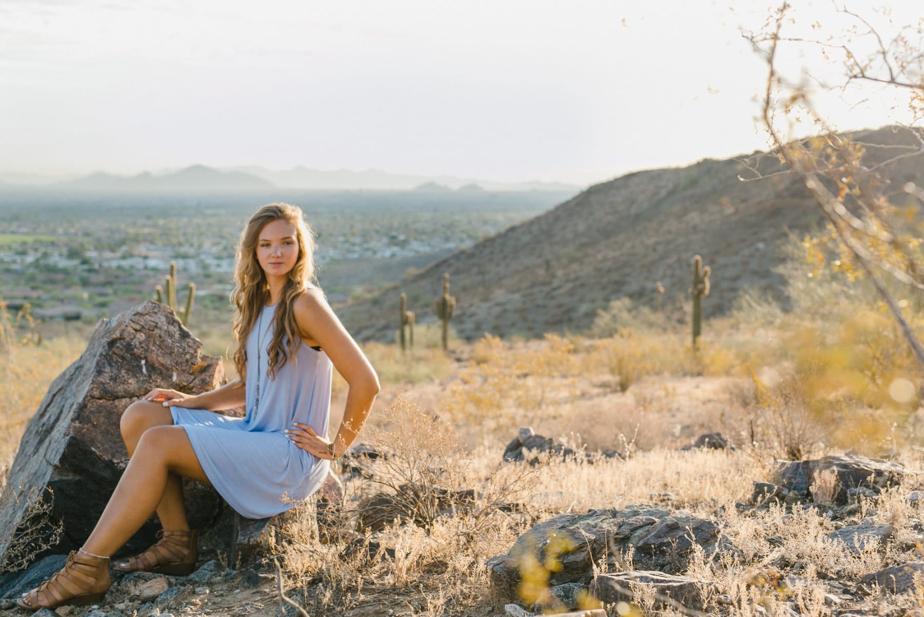 Arizona desert mountain senior portraits