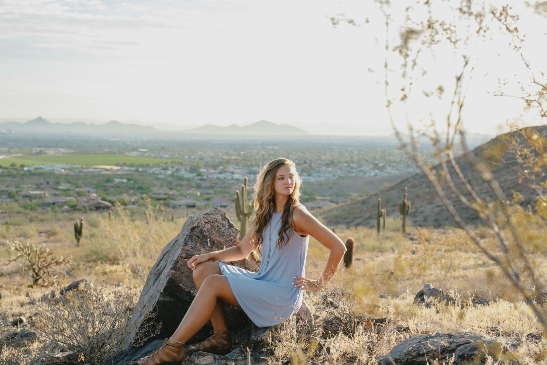South Mountain desert high school senior portraits Arizona
