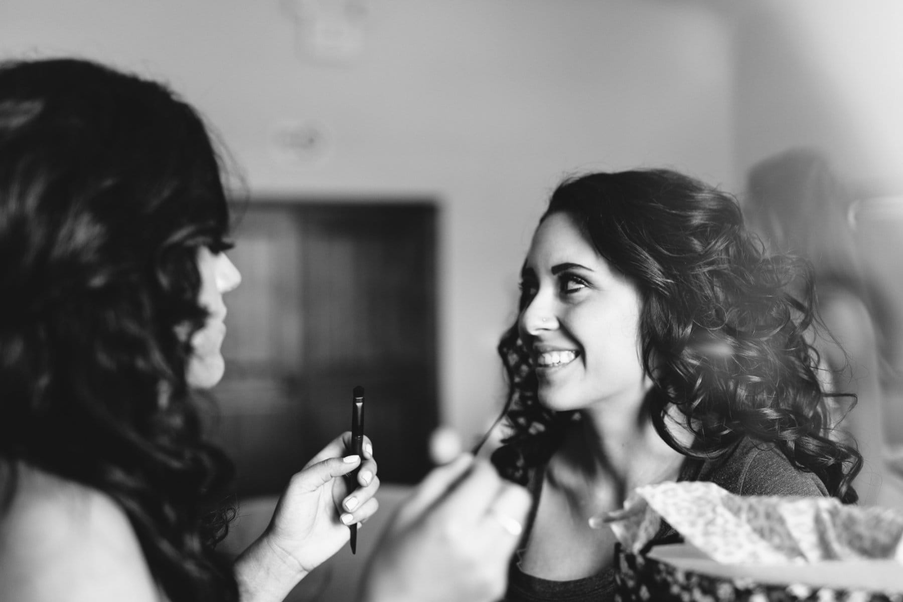 bride getting ready at Superstition Manor Mesa AZ