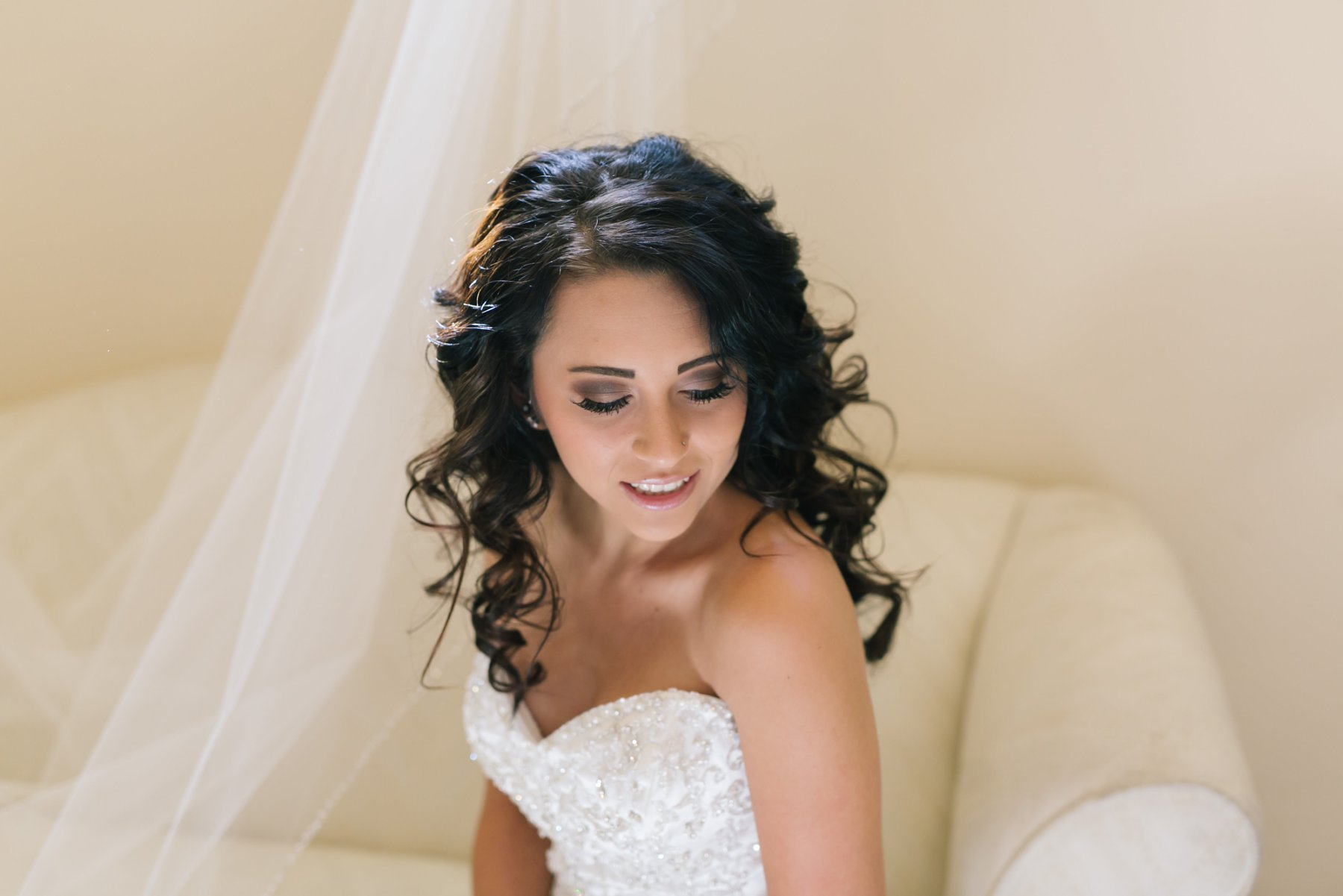 bride on wedding day at Mesa AZ wedding venue Superstition Manor