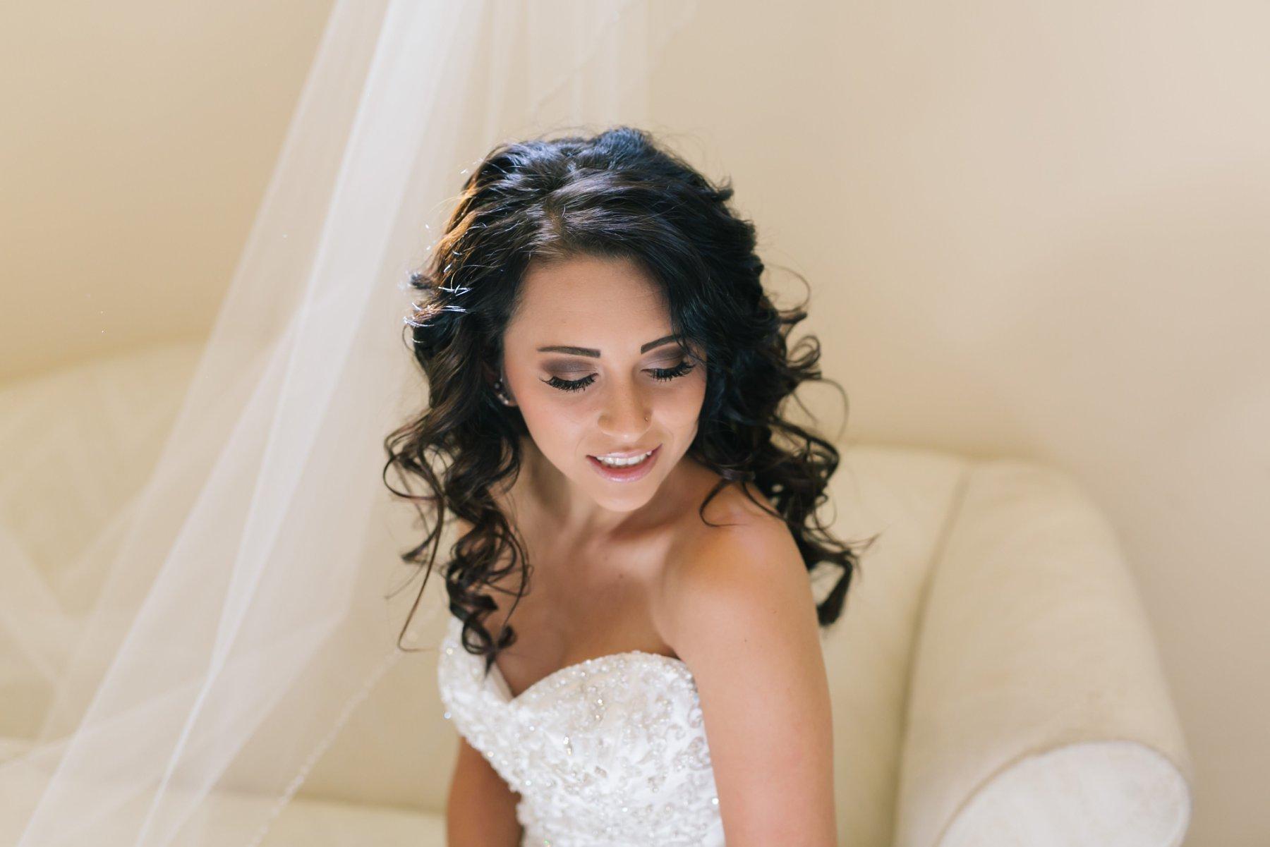 bride on wedding day at Mesa AZ wedding venue Superstition Manor