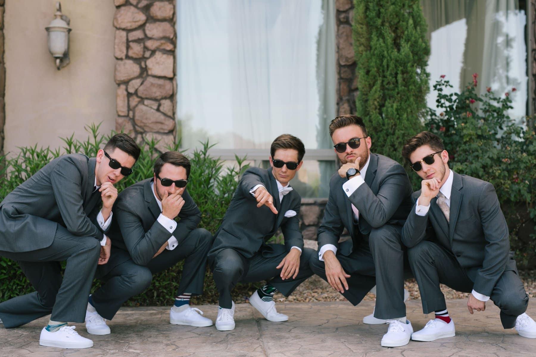 groomsmen Superstition Manor Mesa wedding
