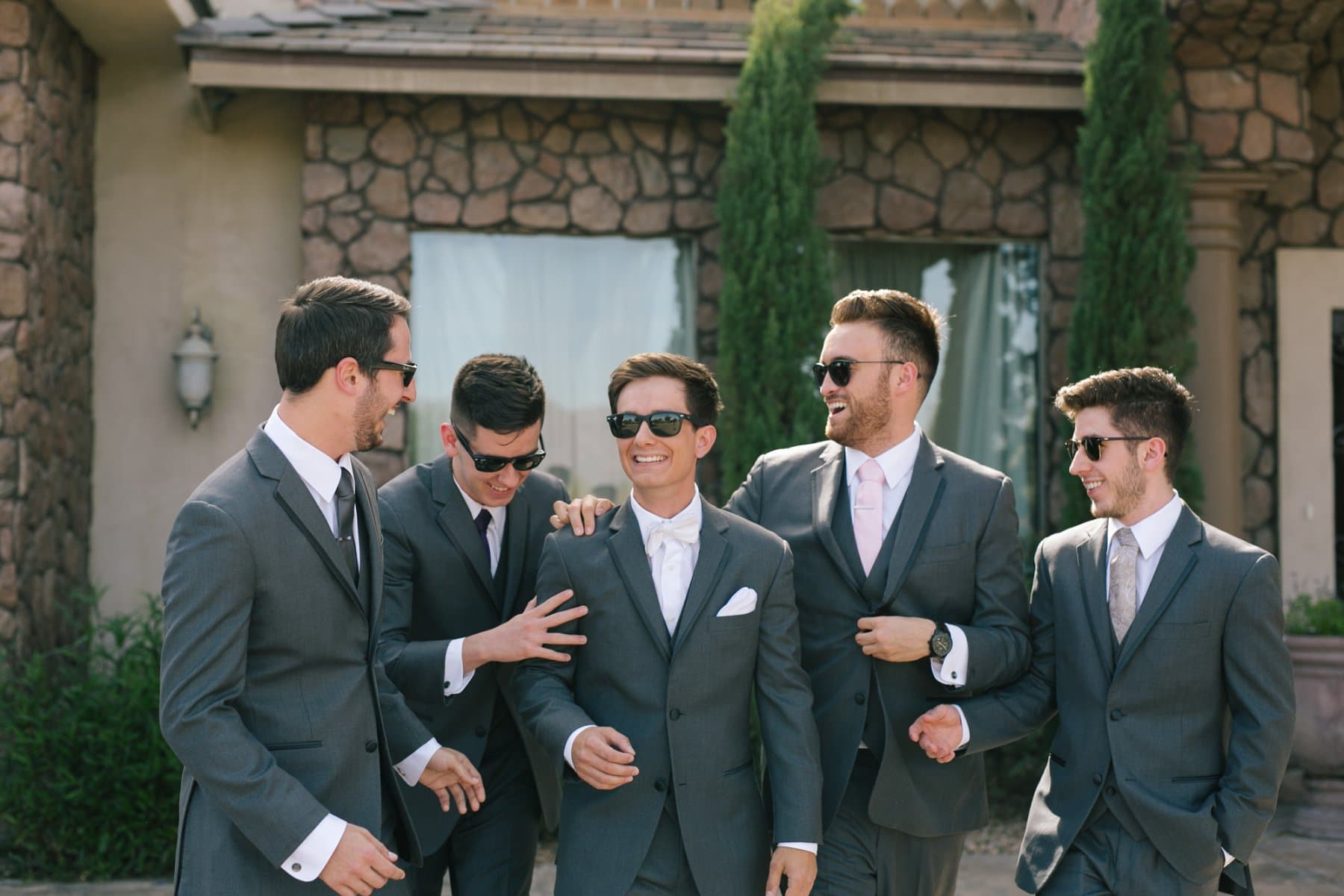 groomsmen at Superstition Manor in Mesa AZ wedding