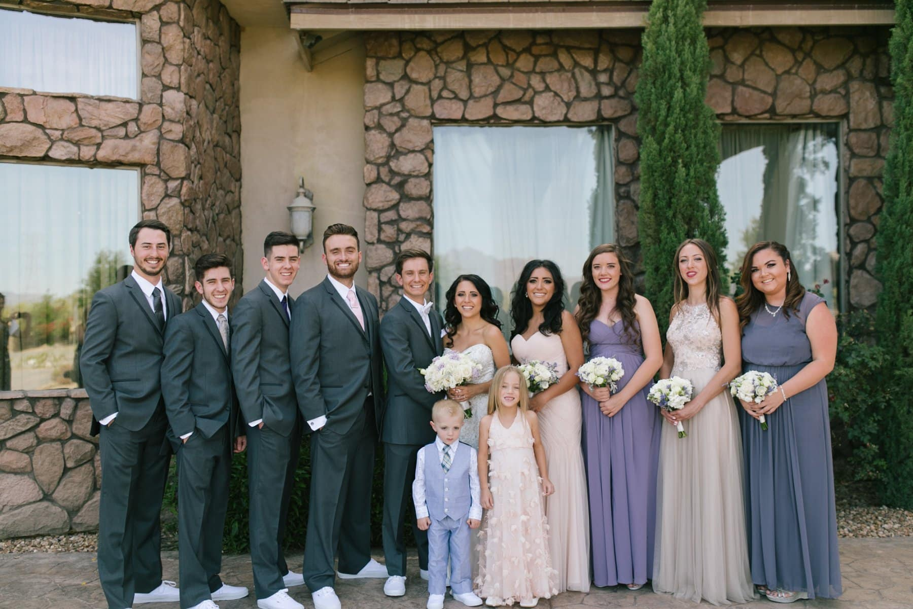 wedding party at Superstition Manor Mesa AZ
