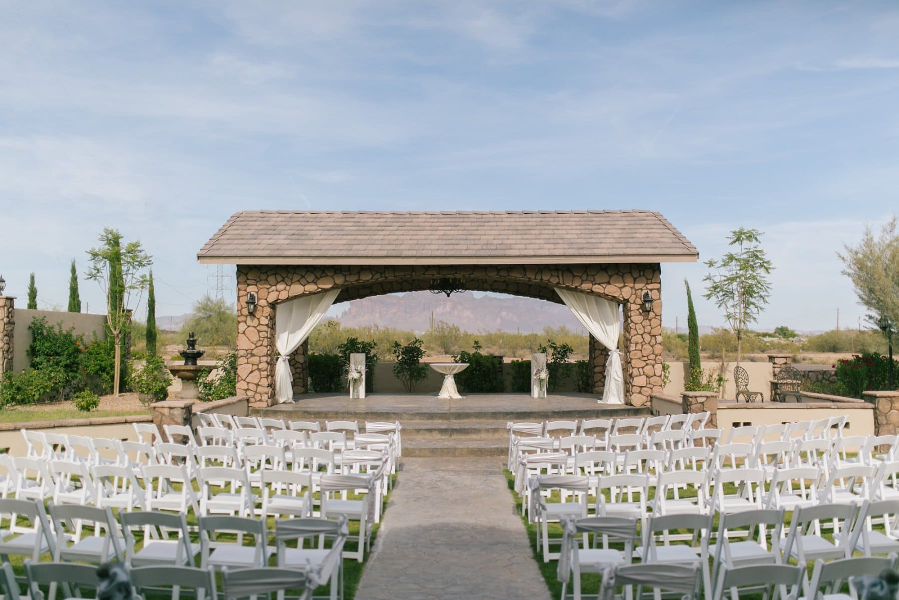 Superstition Manor Mesa wedding venue ceremony photos