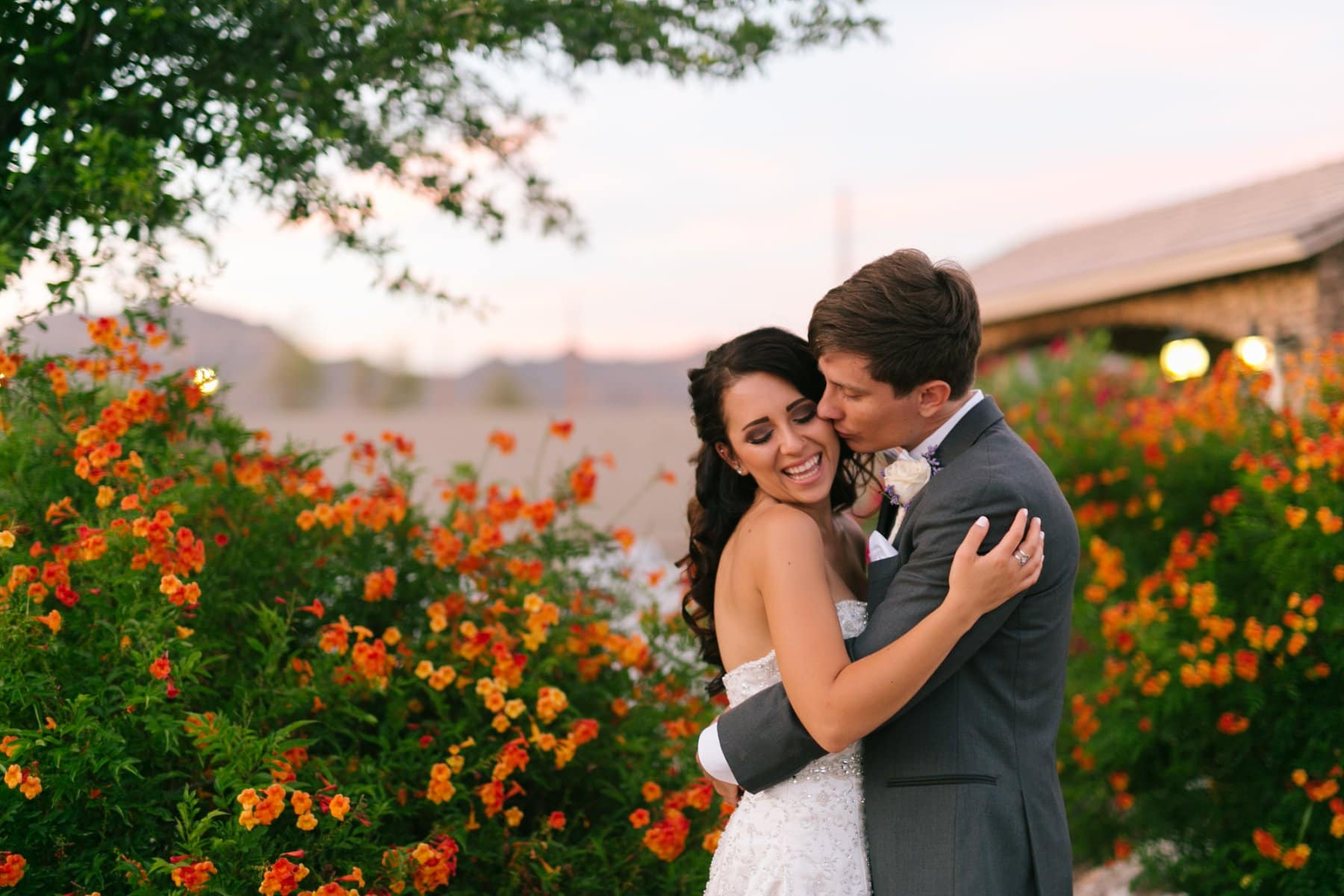 sweet bride & groom photos at Superstition Manor