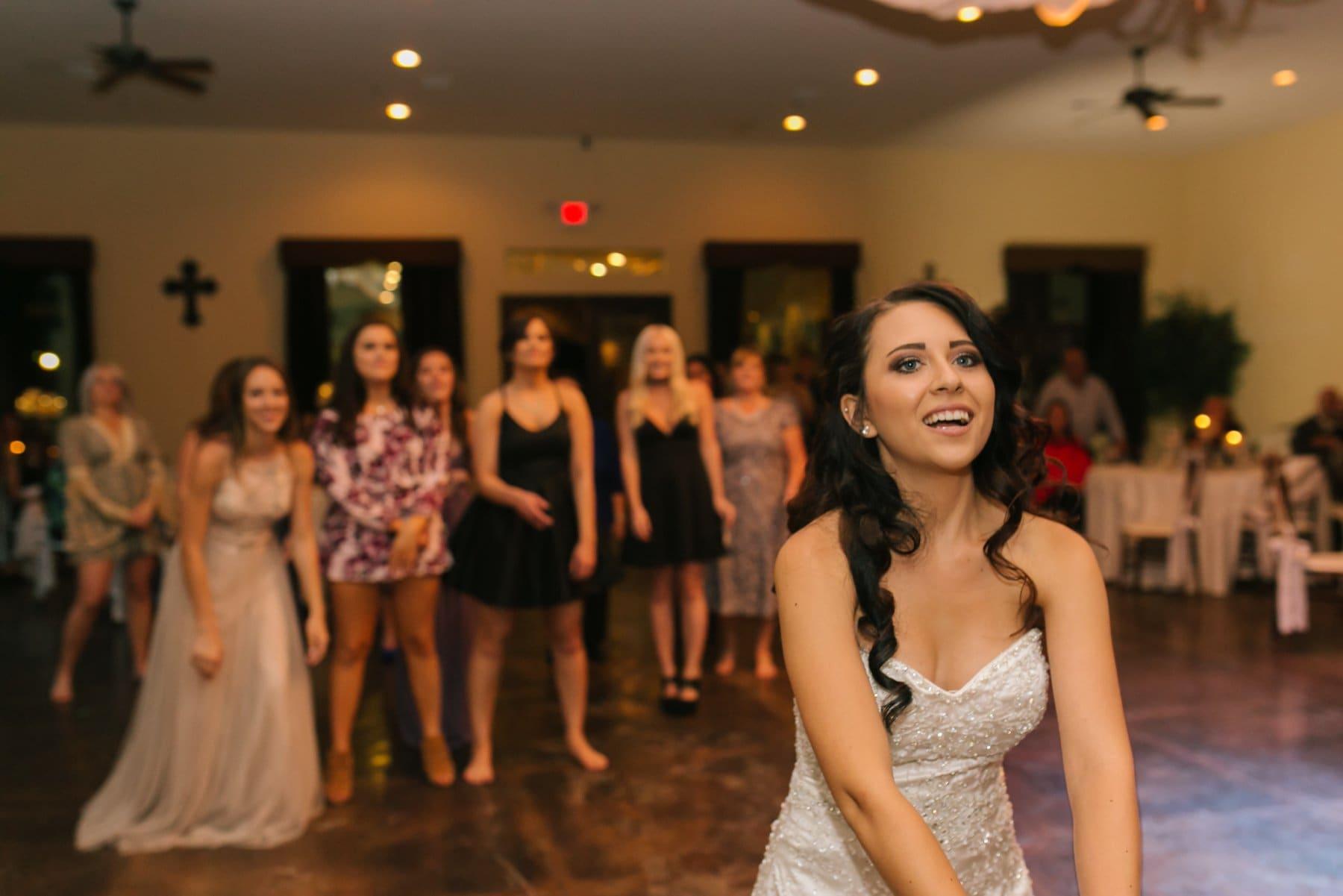 bouquet toss Superstition Manor wedding