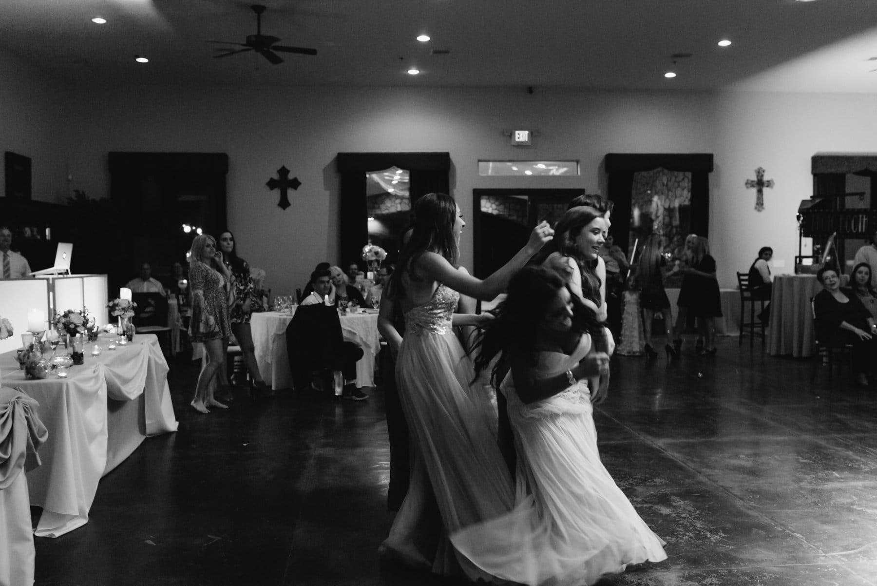 bouquet toss Superstition Manor wedding reception