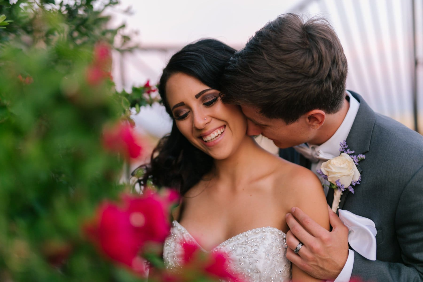 joyful sweet bride and groom Superstition Manor Arizona
